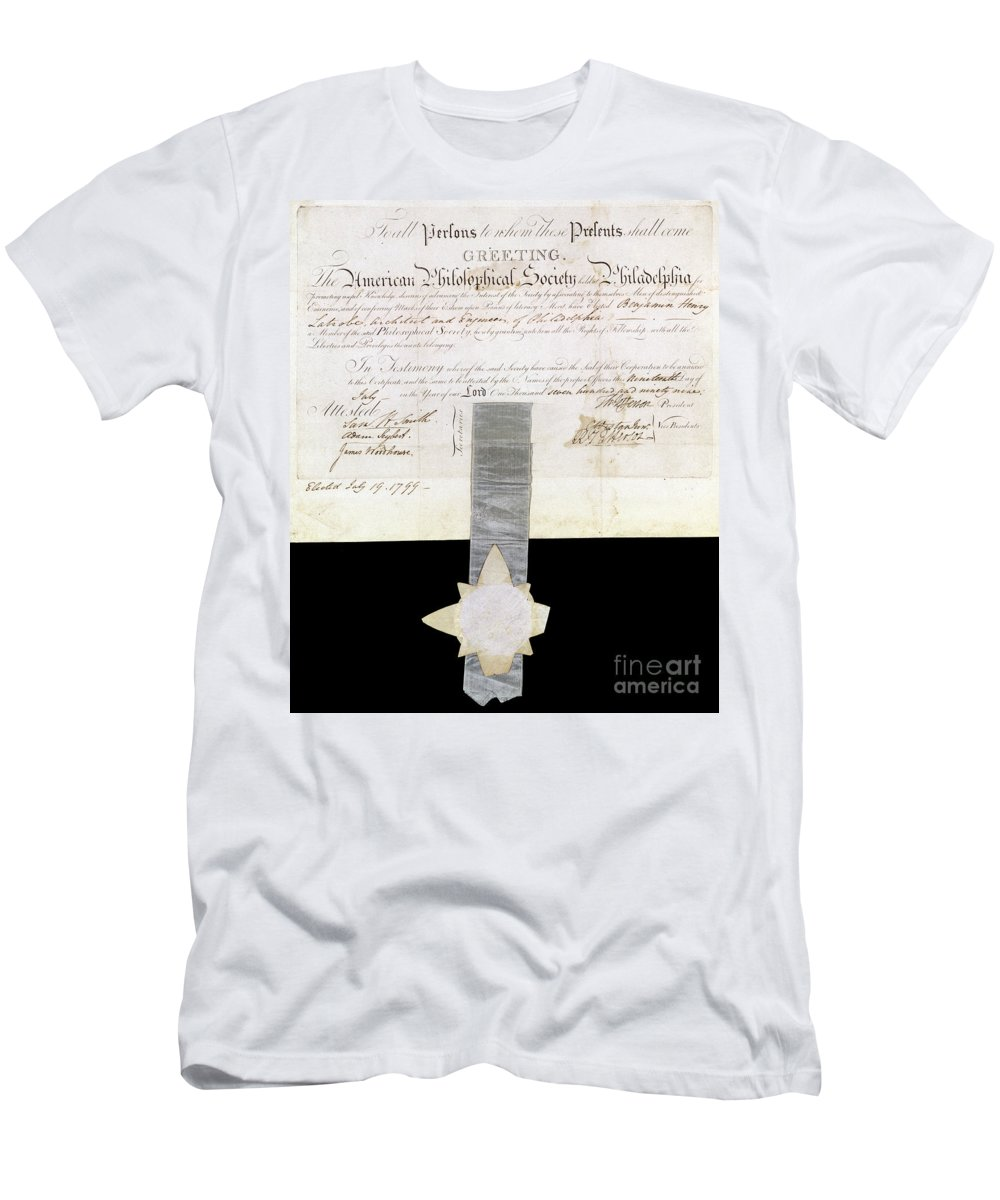 1799 Men's T-Shirt (Athletic Fit) featuring the photograph Philosophical Society by Granger