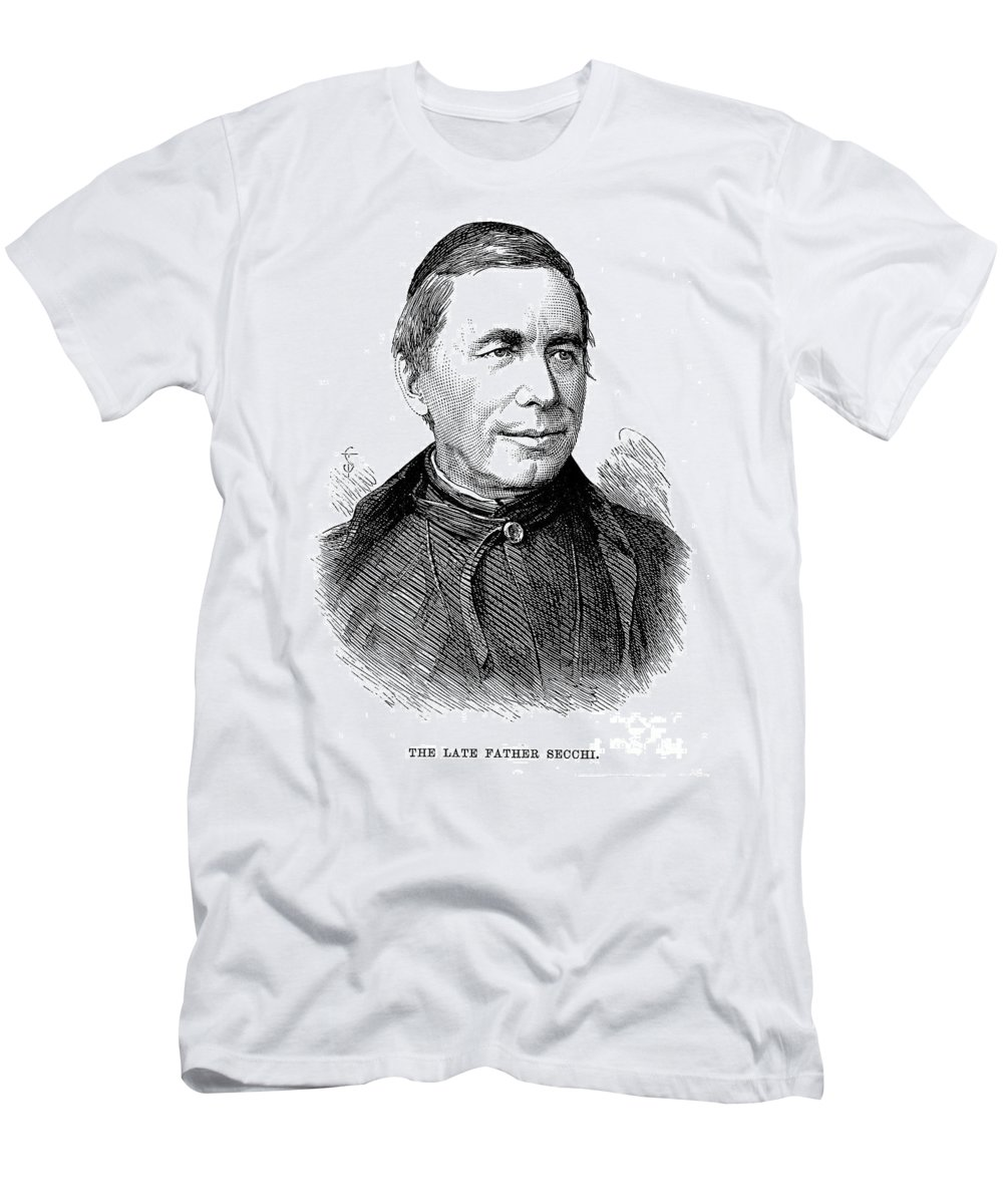 1878 Men's T-Shirt (Athletic Fit) featuring the photograph Pietro Angelo Secchi by Granger