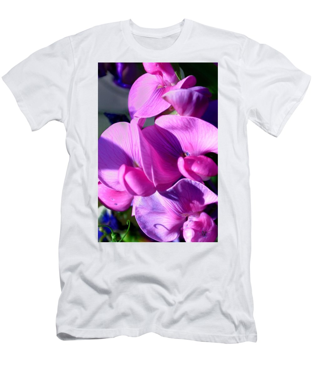 Men's T-Shirt (Athletic Fit) featuring the photograph Pink Dance by Mark Valentine