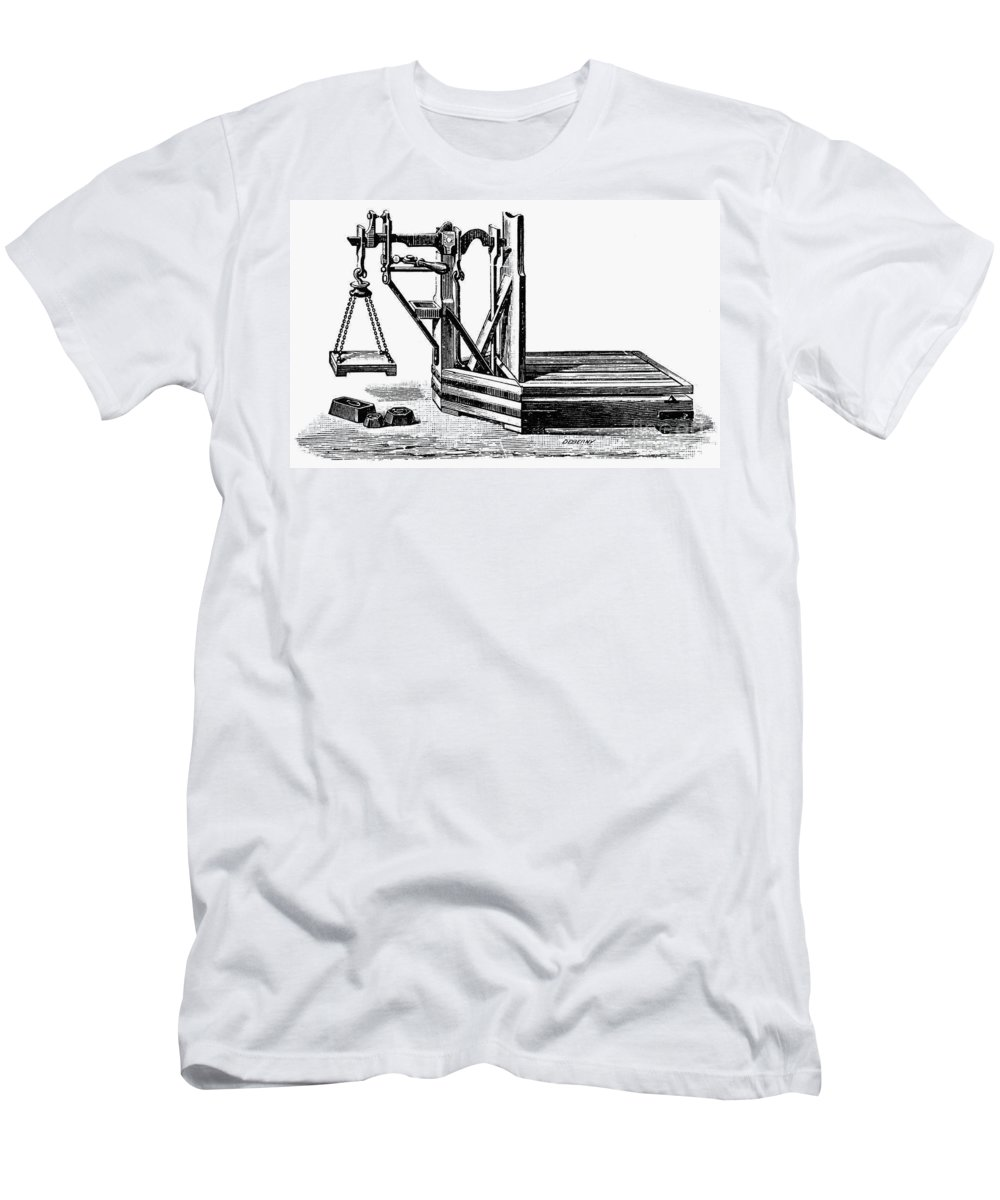 20th Century Men's T-Shirt (Athletic Fit) featuring the photograph Platform Scale, C1900 by Granger