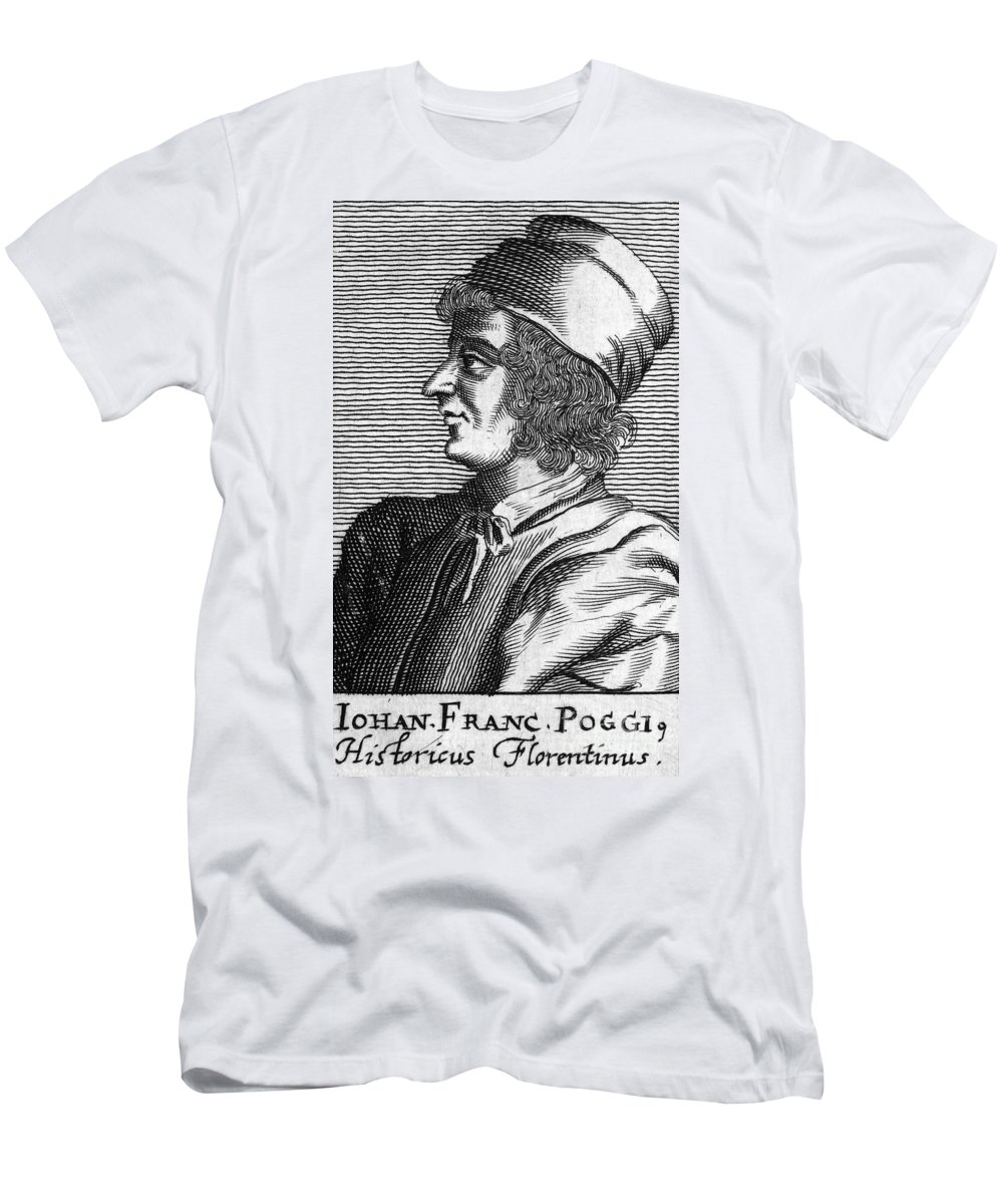 15th Century Men's T-Shirt (Athletic Fit) featuring the photograph Poggio Bracciolini by Granger