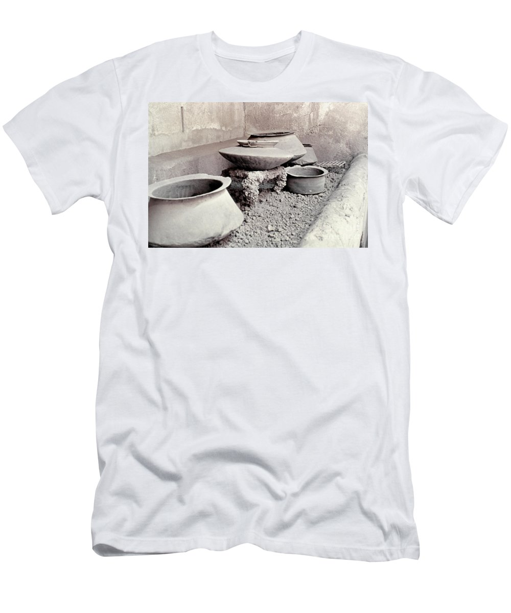Ancient Men's T-Shirt (Athletic Fit) featuring the photograph Pompeii: Cooking Pots by Granger