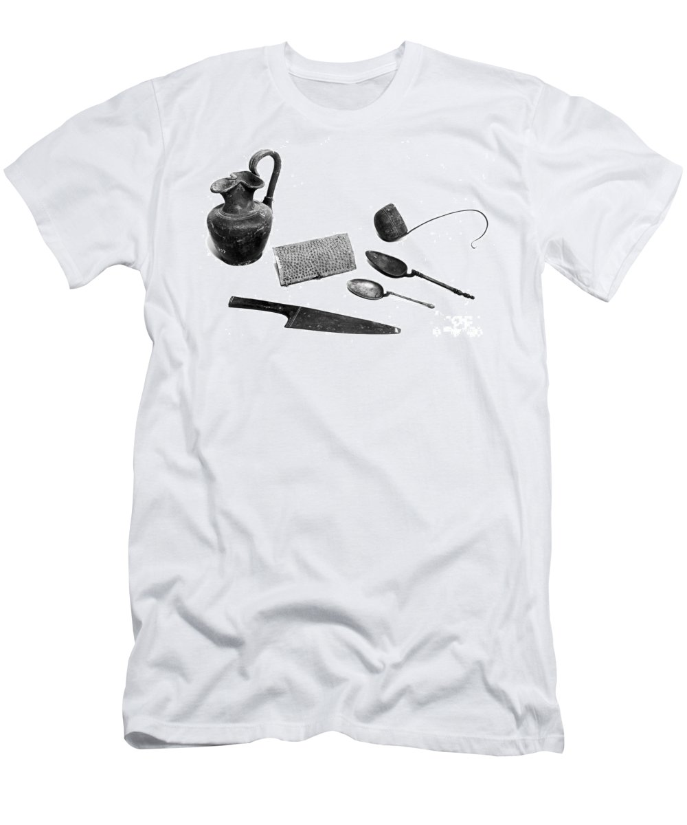 1st Century Men's T-Shirt (Athletic Fit) featuring the photograph Pompeii: Kitchen Utensils by Granger