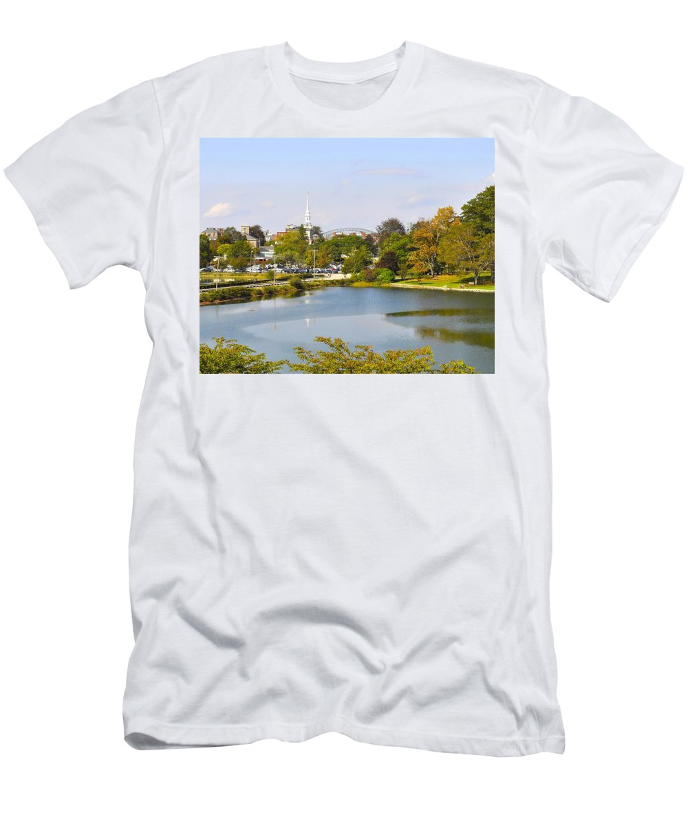 Portsmouth Men's T-Shirt (Athletic Fit) featuring the photograph Portsmouth Nh Pnhp by Jim Brage
