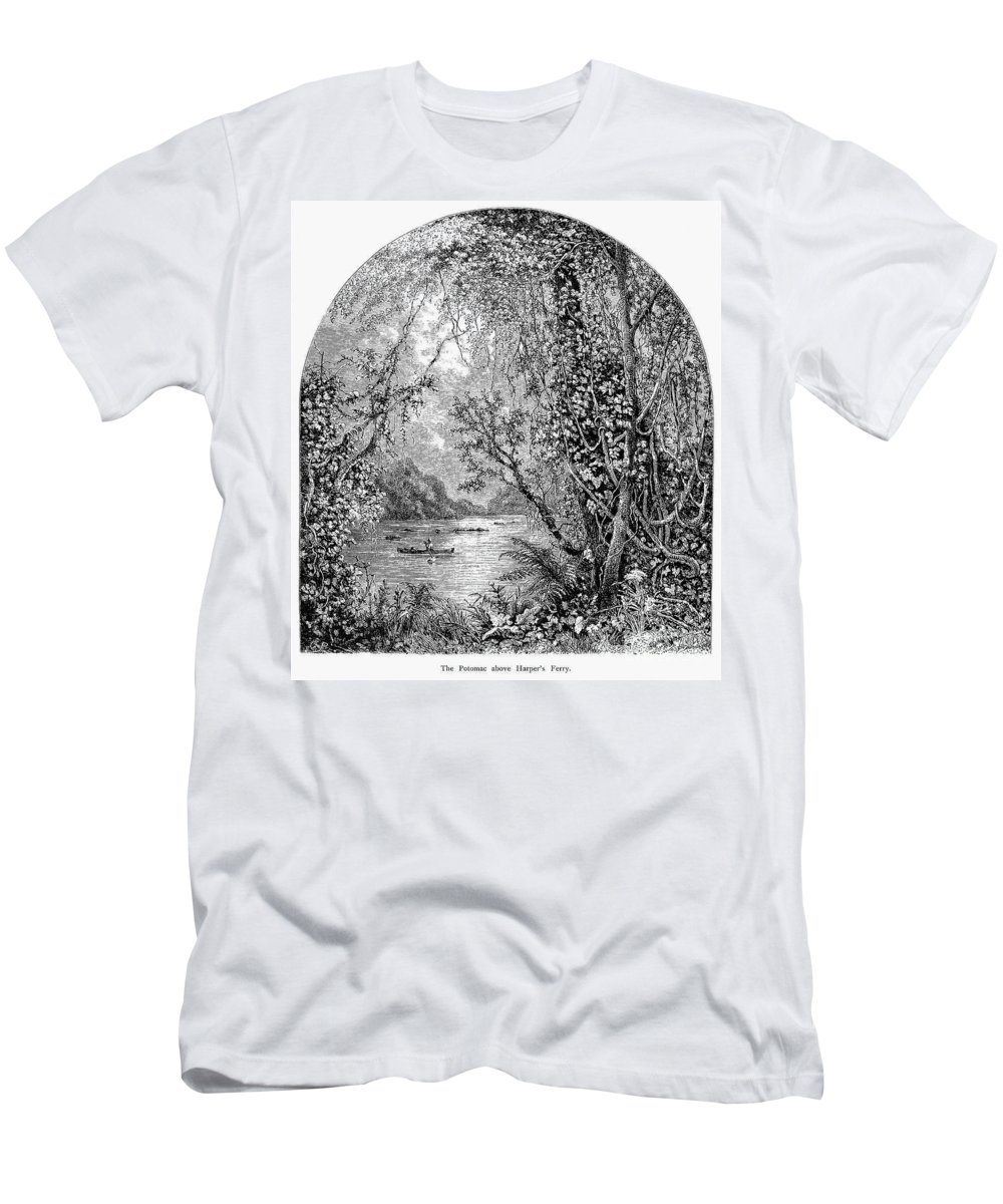 19th Century Men's T-Shirt (Athletic Fit) featuring the photograph Potomac River by Granger