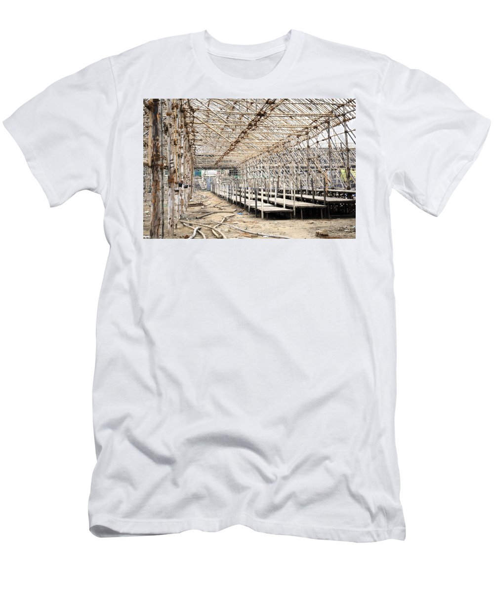 Carnival Men's T-Shirt (Athletic Fit) featuring the photograph Preparation Of A Circus by Sumit Mehndiratta
