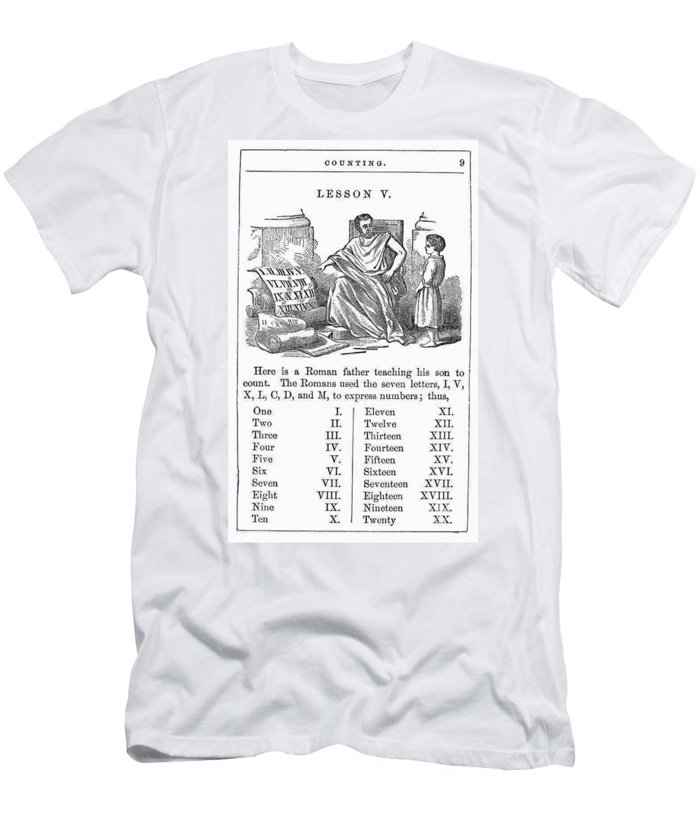 1845 Men's T-Shirt (Athletic Fit) featuring the photograph Primer: Roman Numerals by Granger