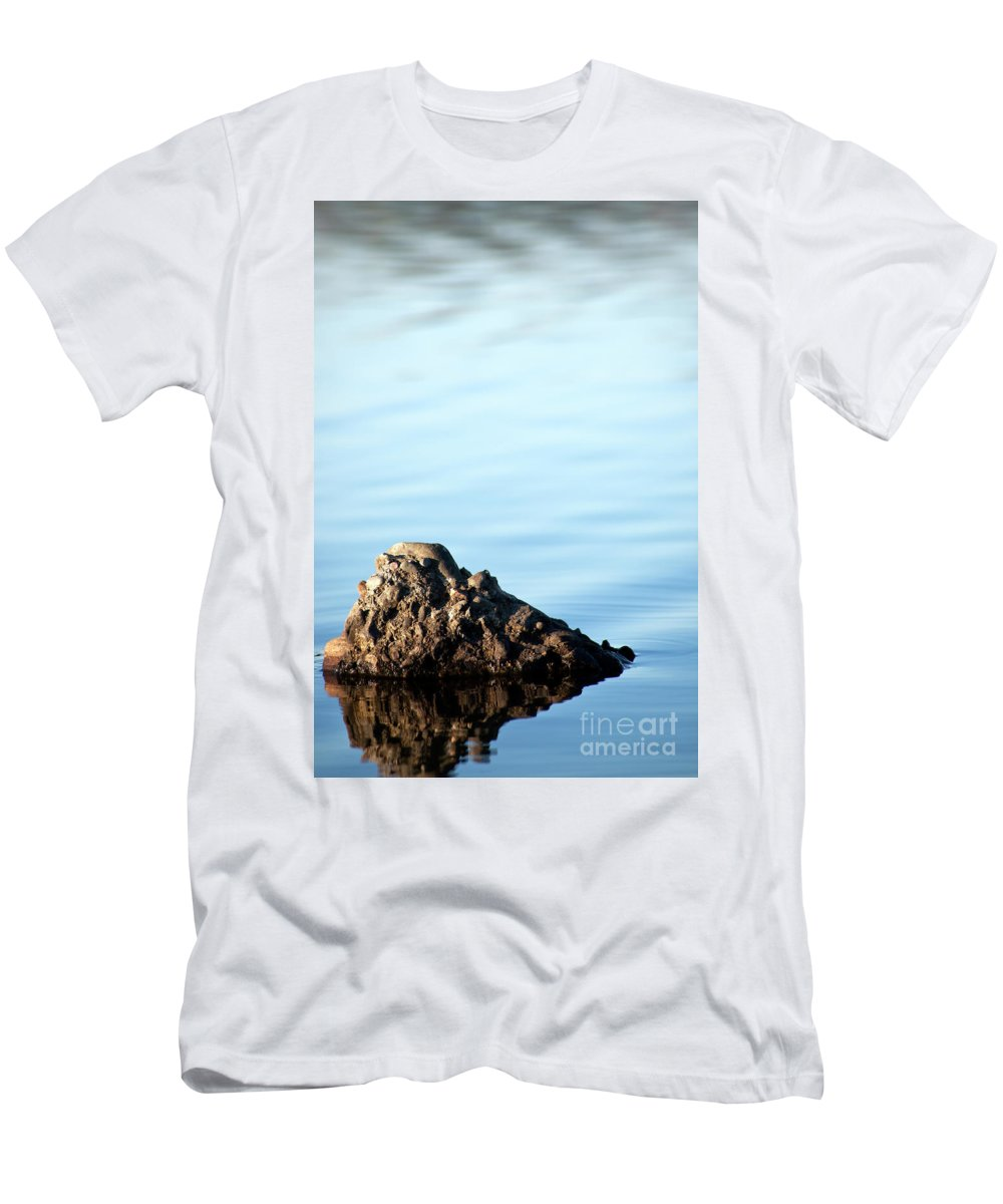 Stone Men's T-Shirt (Athletic Fit) featuring the photograph Private Island by Maglioli Studios