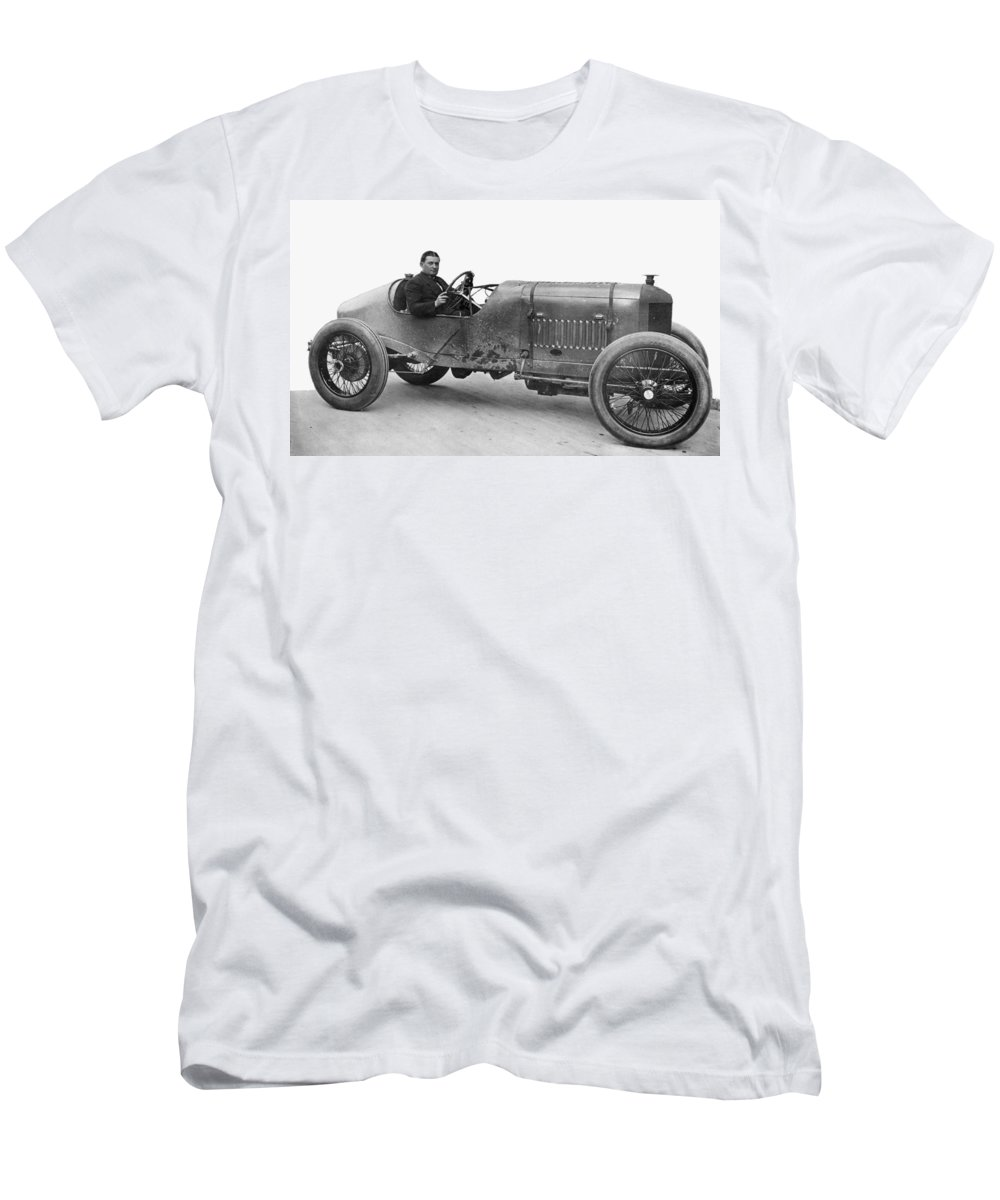 1914 Men's T-Shirt (Athletic Fit) featuring the photograph Race Car, 1914 by Granger