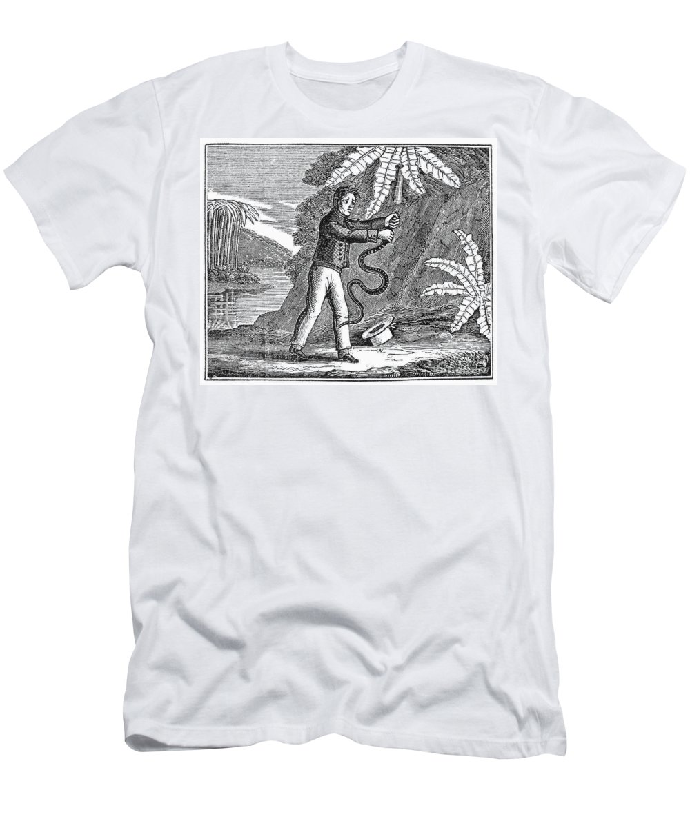 19th Century Men's T-Shirt (Athletic Fit) featuring the photograph Rattlesnake by Granger