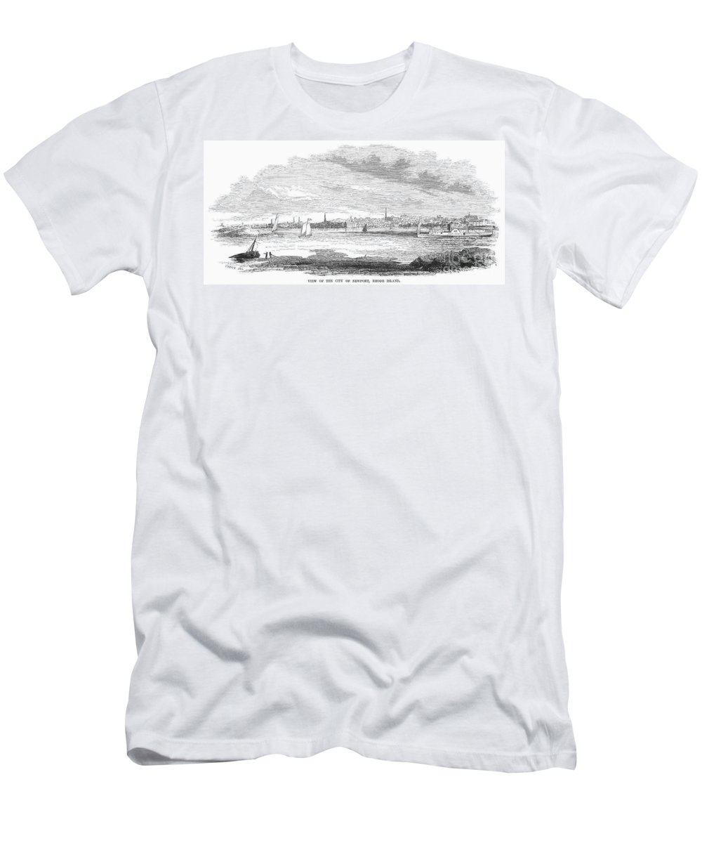 1852 Men's T-Shirt (Athletic Fit) featuring the photograph Rhode Island: Newport by Granger