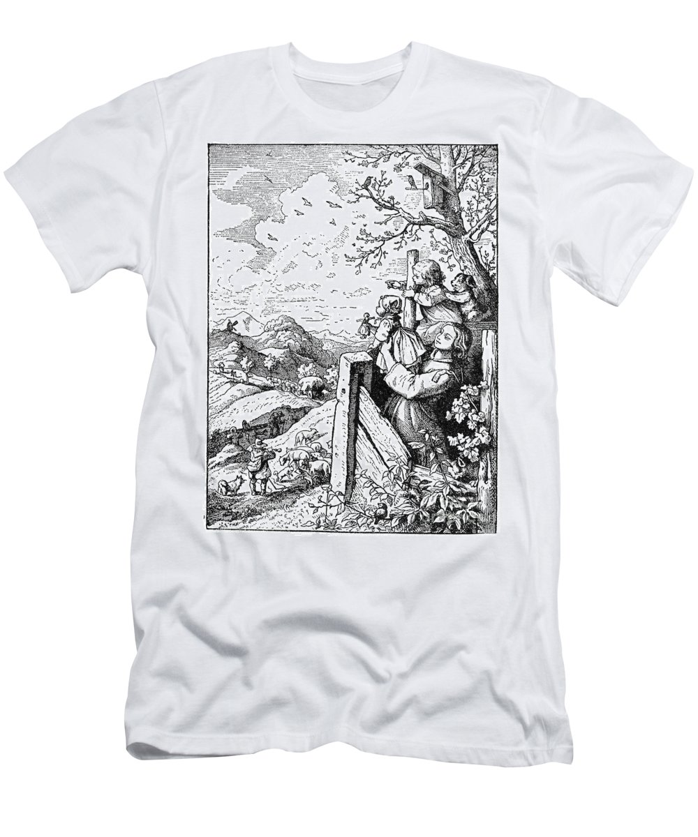19th Century Men's T-Shirt (Athletic Fit) featuring the photograph Richter Illustration by Granger