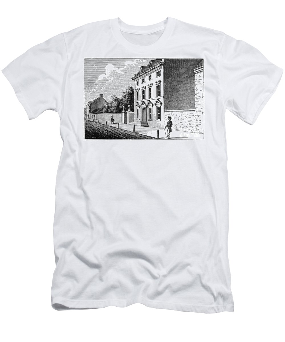 18th Century Men's T-Shirt (Athletic Fit) featuring the photograph Robert Morris House by Granger