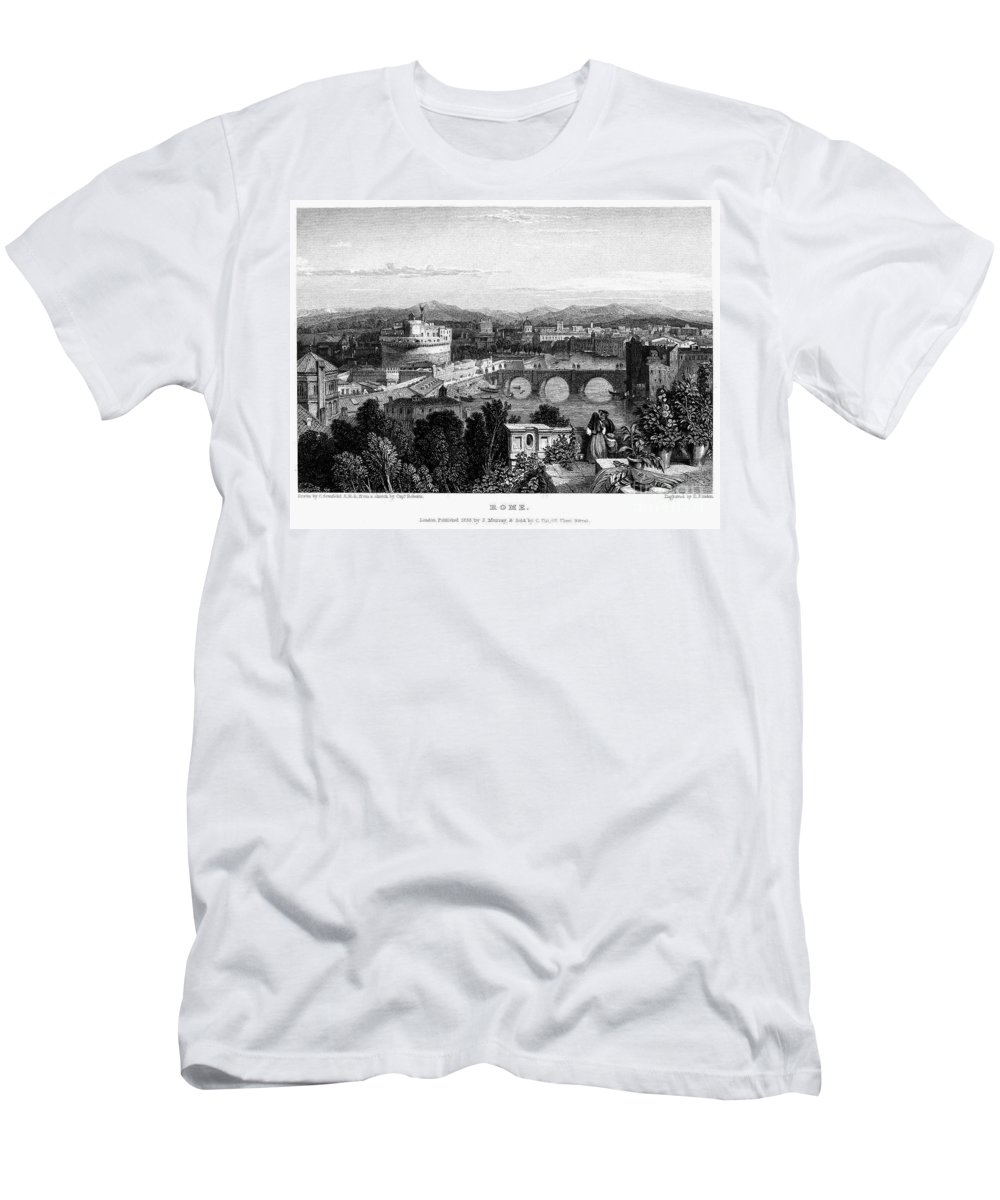 1833 Men's T-Shirt (Athletic Fit) featuring the photograph Rome: Scenic View, 1833 by Granger