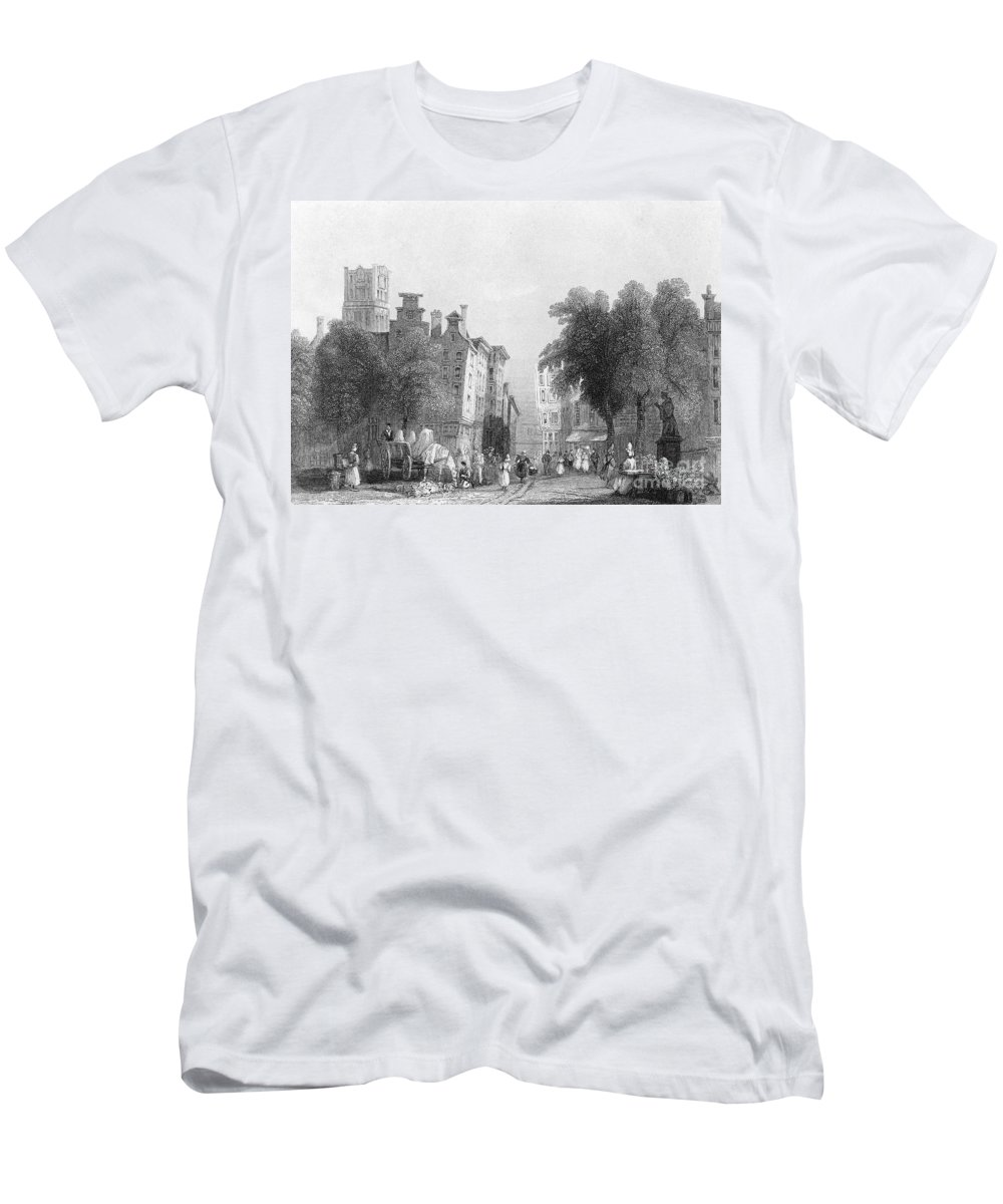 1830s Men's T-Shirt (Athletic Fit) featuring the photograph Rotterdam, C1830s by Granger