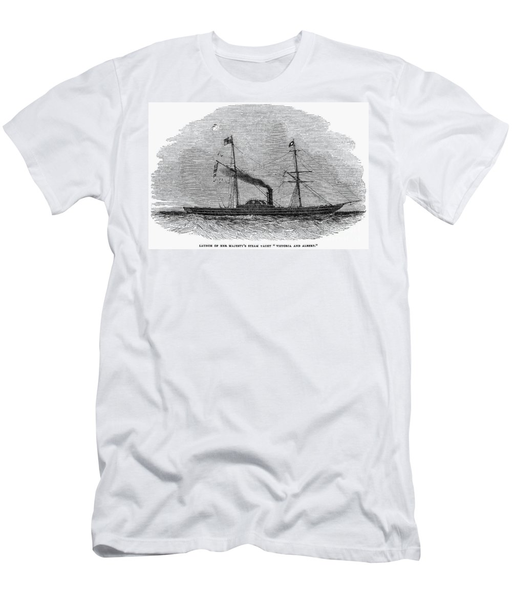 1843 Men's T-Shirt (Athletic Fit) featuring the photograph Royal Yacht, 1843 by Granger