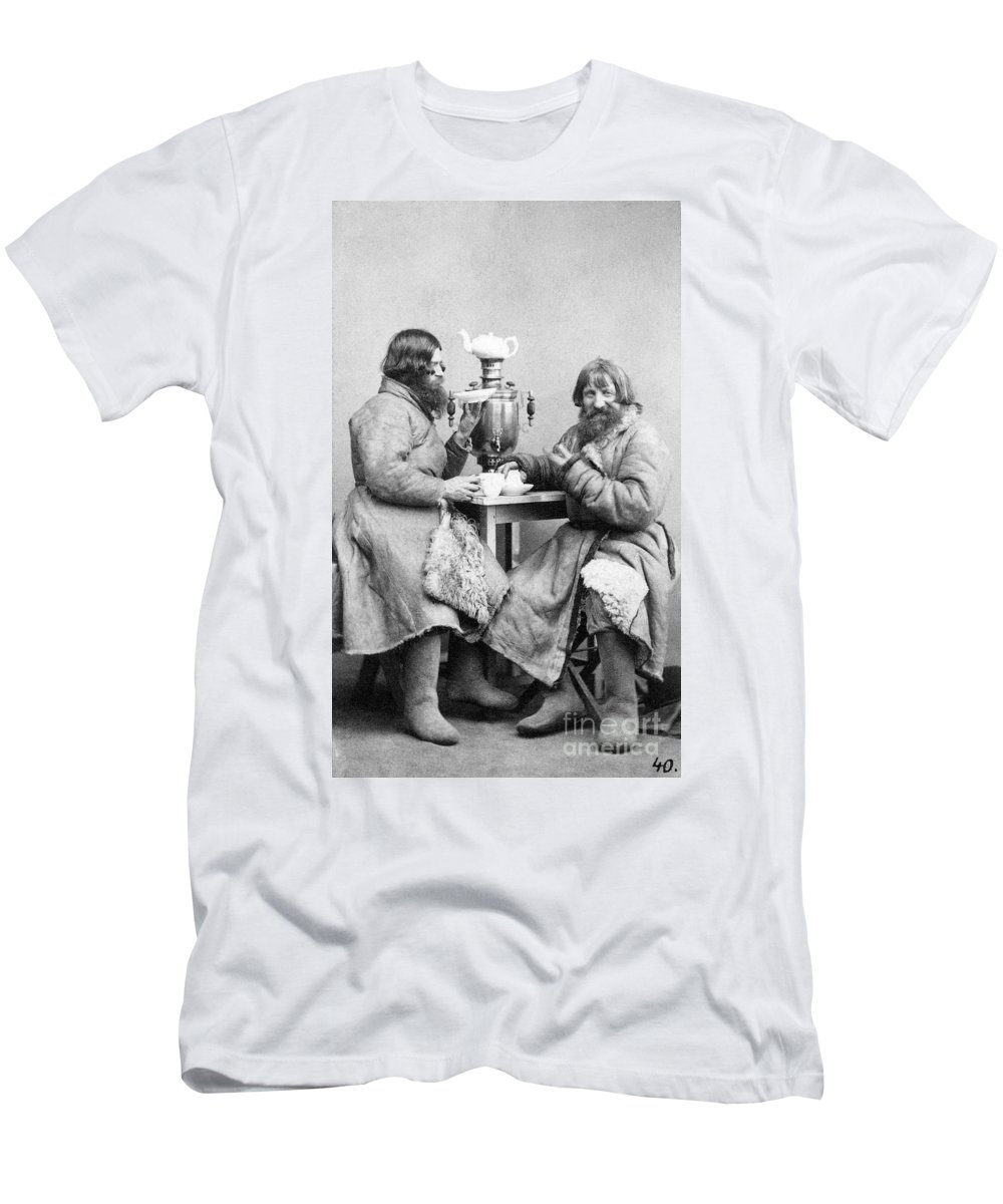 1860 Men's T-Shirt (Athletic Fit) featuring the photograph Russia: Samovar, C1860 by Granger