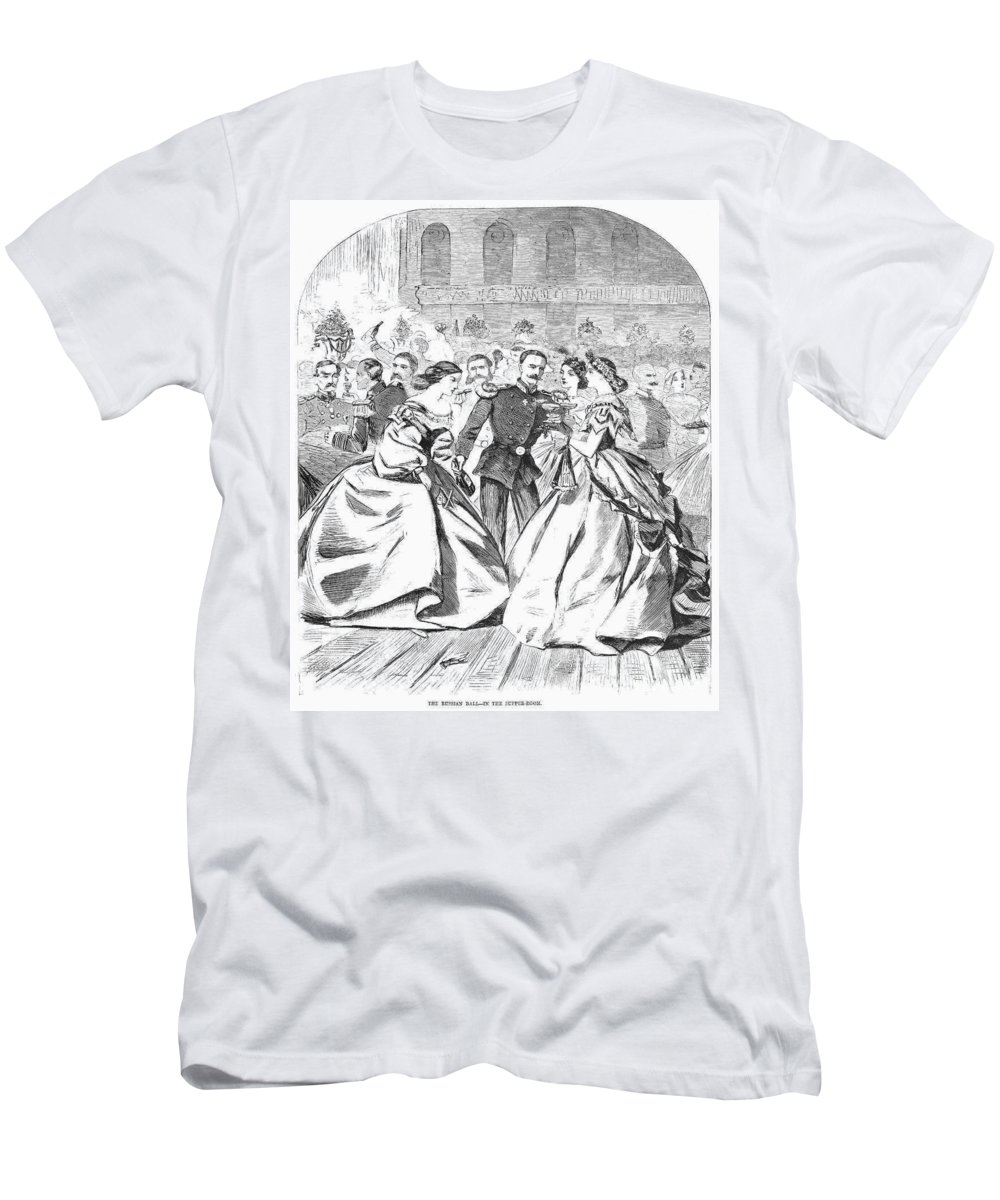 1863 Men's T-Shirt (Athletic Fit) featuring the photograph Russian Visit, 1863 by Granger