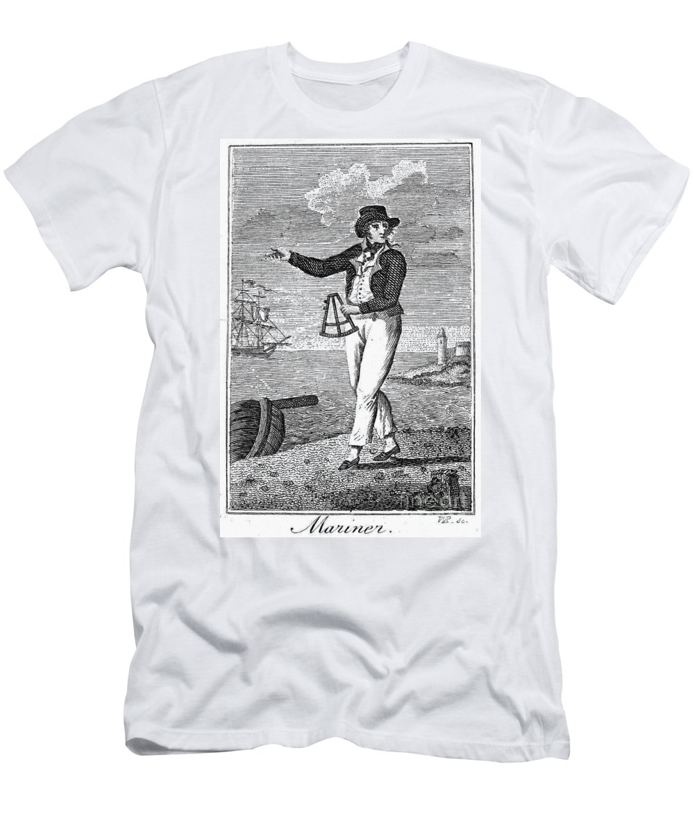 18th Century Men's T-Shirt (Athletic Fit) featuring the photograph Sailor, 18th Century by Granger