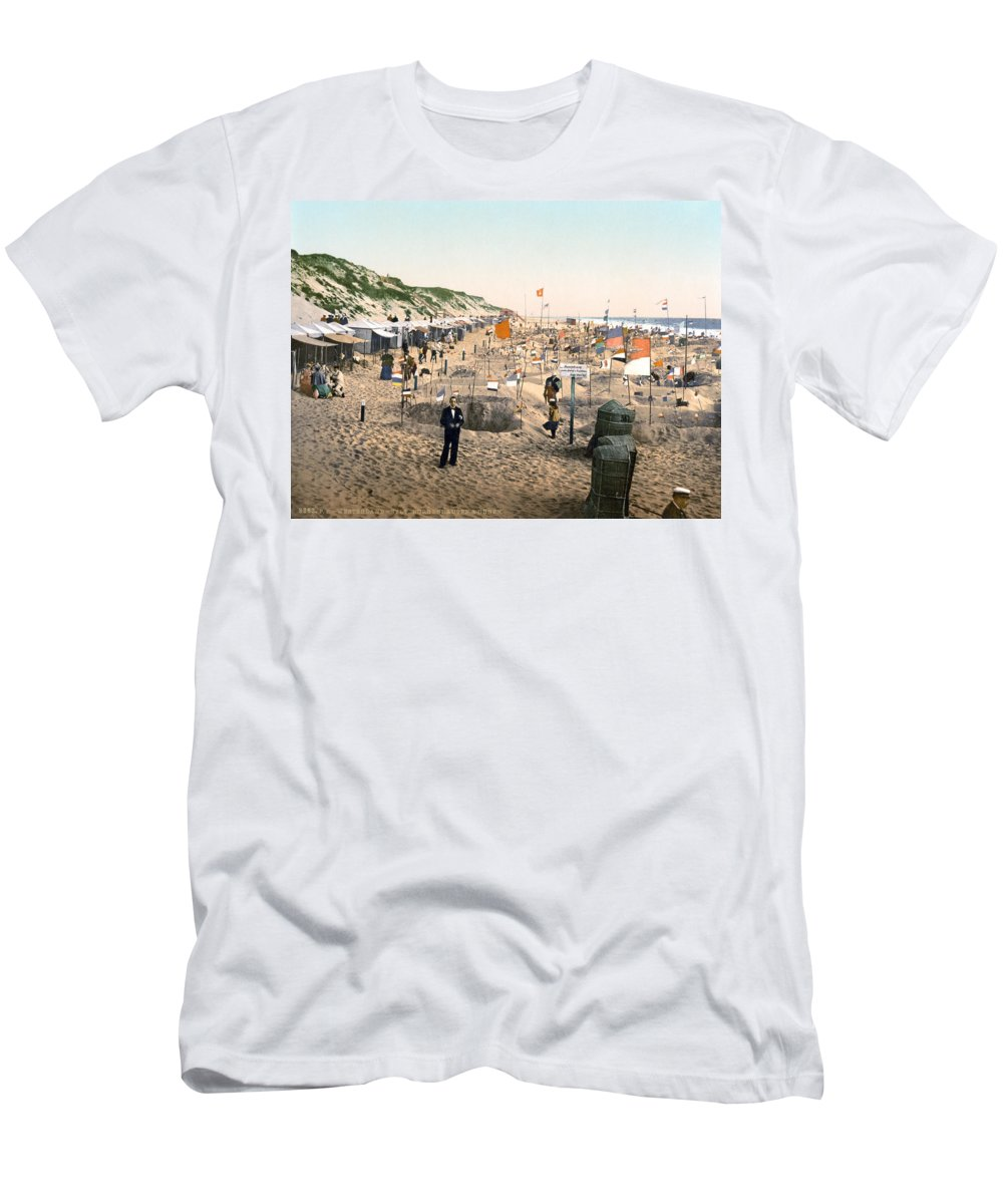 1895 Men's T-Shirt (Athletic Fit) featuring the photograph Sand Castles, C1895 by Granger