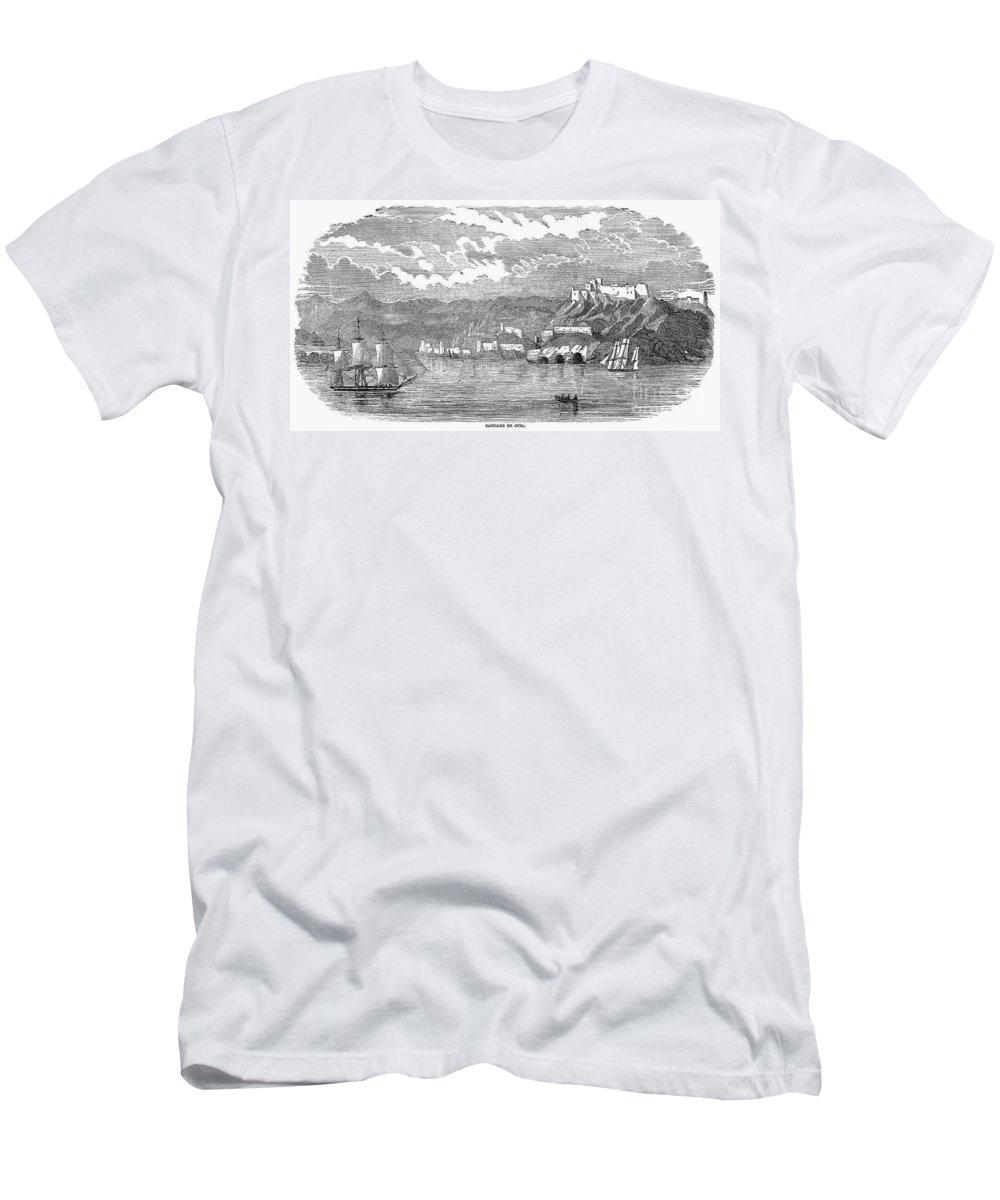 1853 Men's T-Shirt (Athletic Fit) featuring the photograph Santiago De Cuba, 1853 by Granger