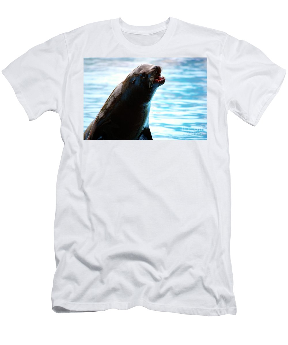 Animal Men's T-Shirt (Athletic Fit) featuring the photograph Sea-lion by Carlos Caetano