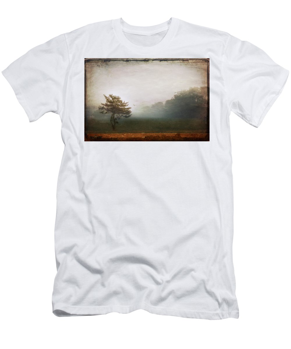 Tree Men's T-Shirt (Athletic Fit) featuring the photograph Season Of Mists by Evelina Kremsdorf