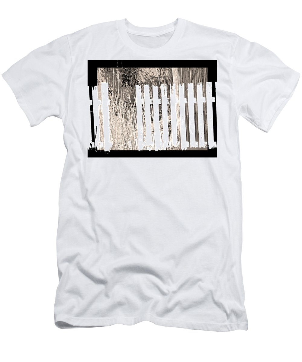 Abstract Men's T-Shirt (Athletic Fit) featuring the photograph Shadows On The American Dream by Lenore Senior