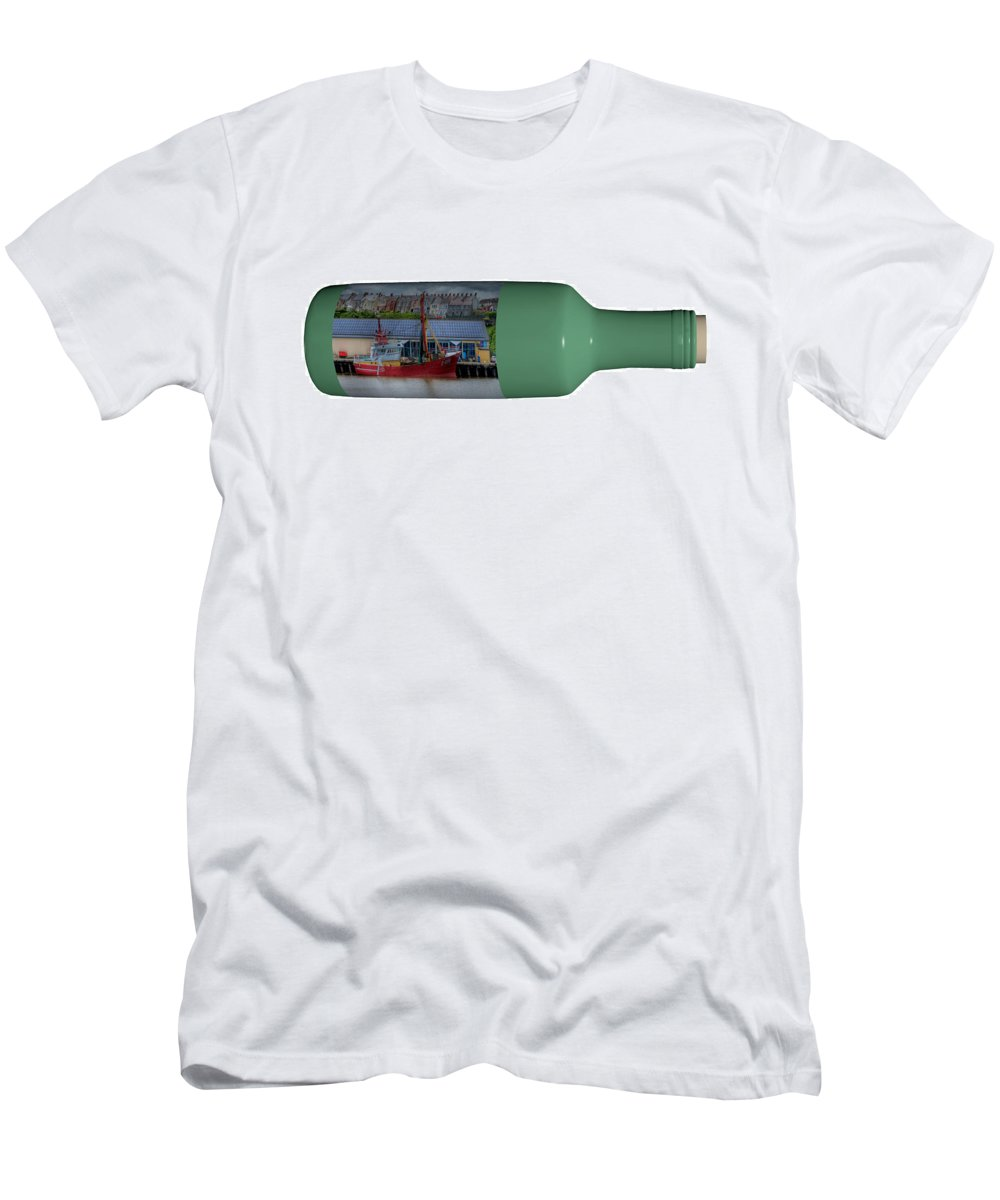 3d T-Shirt featuring the photograph Ship On A Bottle With White by Steve Purnell