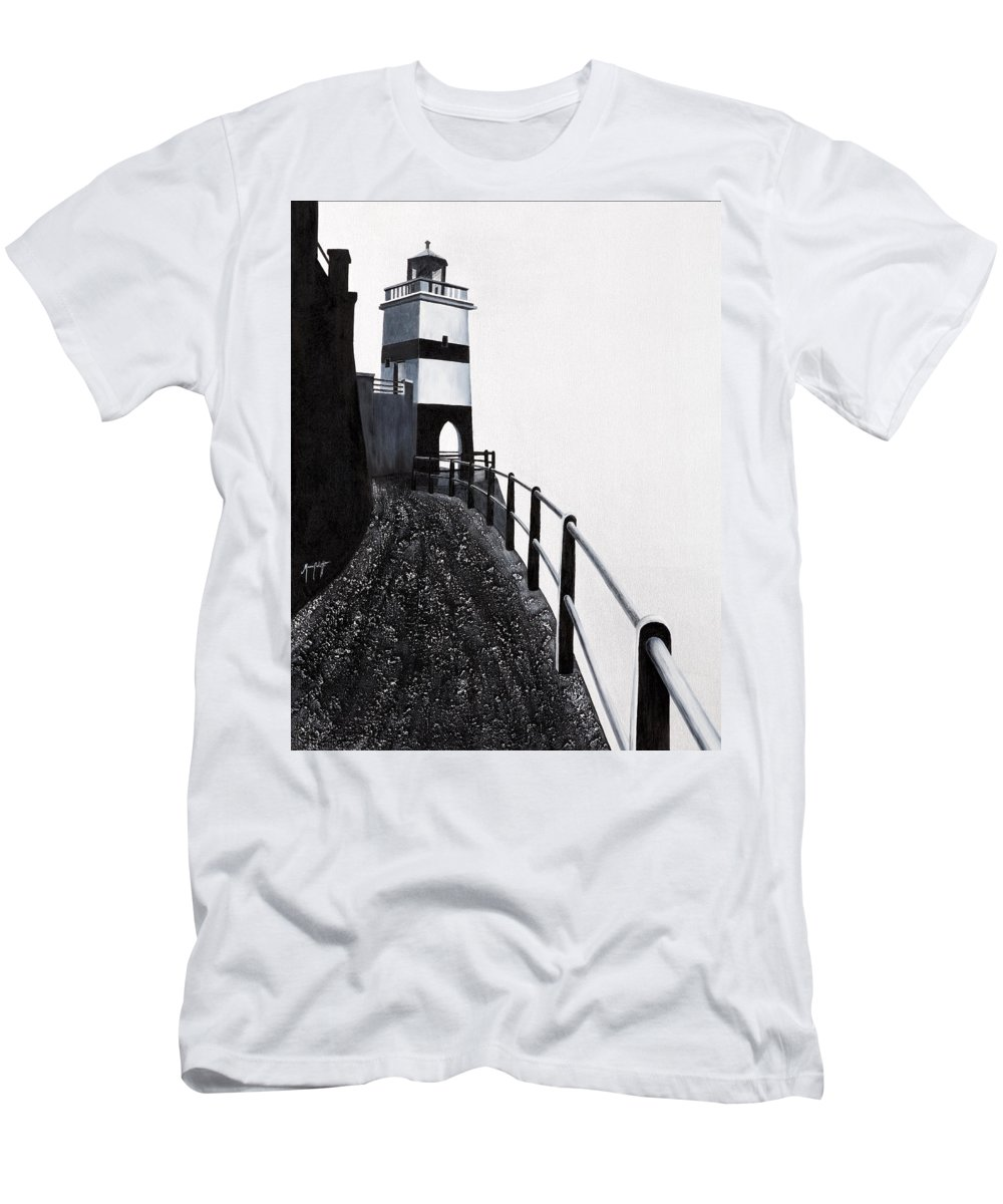 Art Men's T-Shirt (Athletic Fit) featuring the painting Silhouette 1 by Mauro Celotti