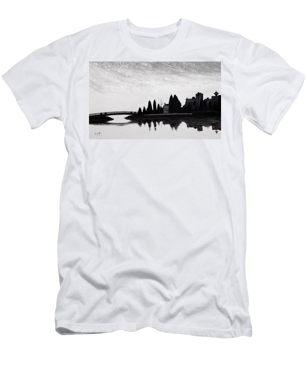 Art Men's T-Shirt (Athletic Fit) featuring the painting Silhouette 5 by Mauro Celotti