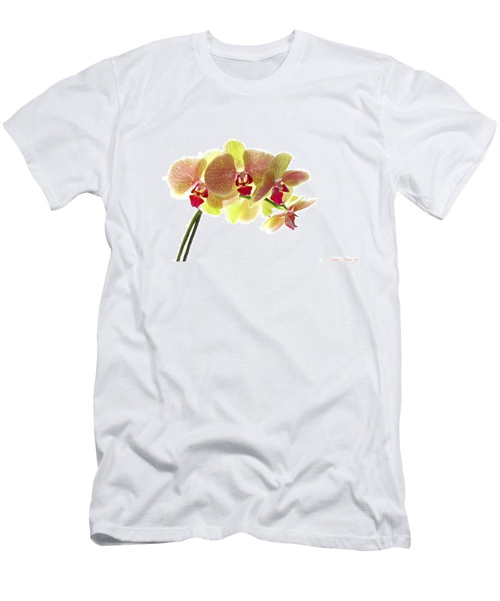 Nature Men's T-Shirt (Athletic Fit) featuring the photograph Simplified Orchids I by Debbie Portwood