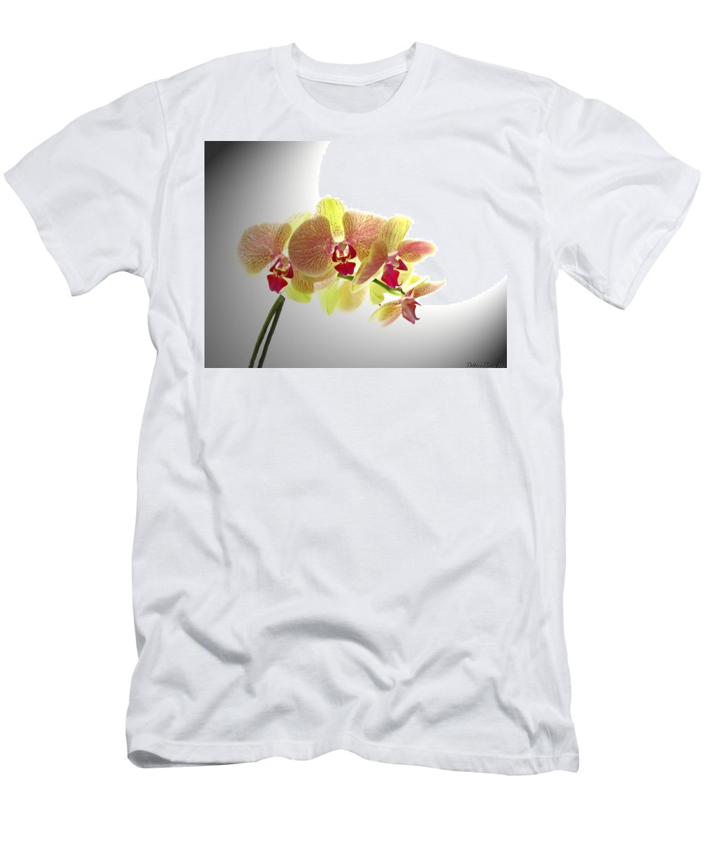 Nature Men's T-Shirt (Athletic Fit) featuring the photograph Simplified Orchids II by Debbie Portwood