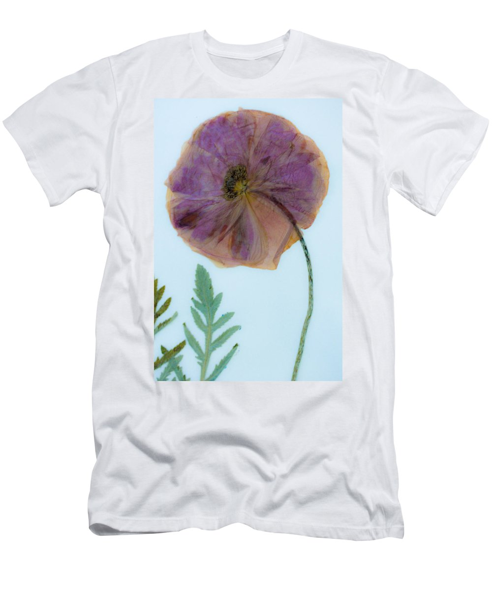 Dried Poppy Men's T-Shirt (Athletic Fit) featuring the mixed media Simply Poppy by Marie Jamieson
