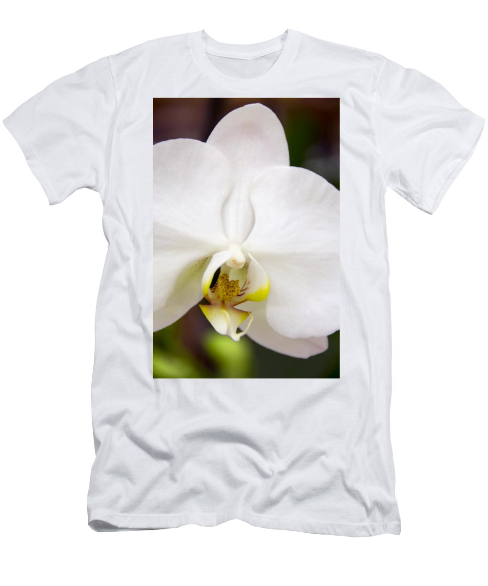 Exotic Men's T-Shirt (Athletic Fit) featuring the photograph Simply Pure Orchid by Angelina Vick