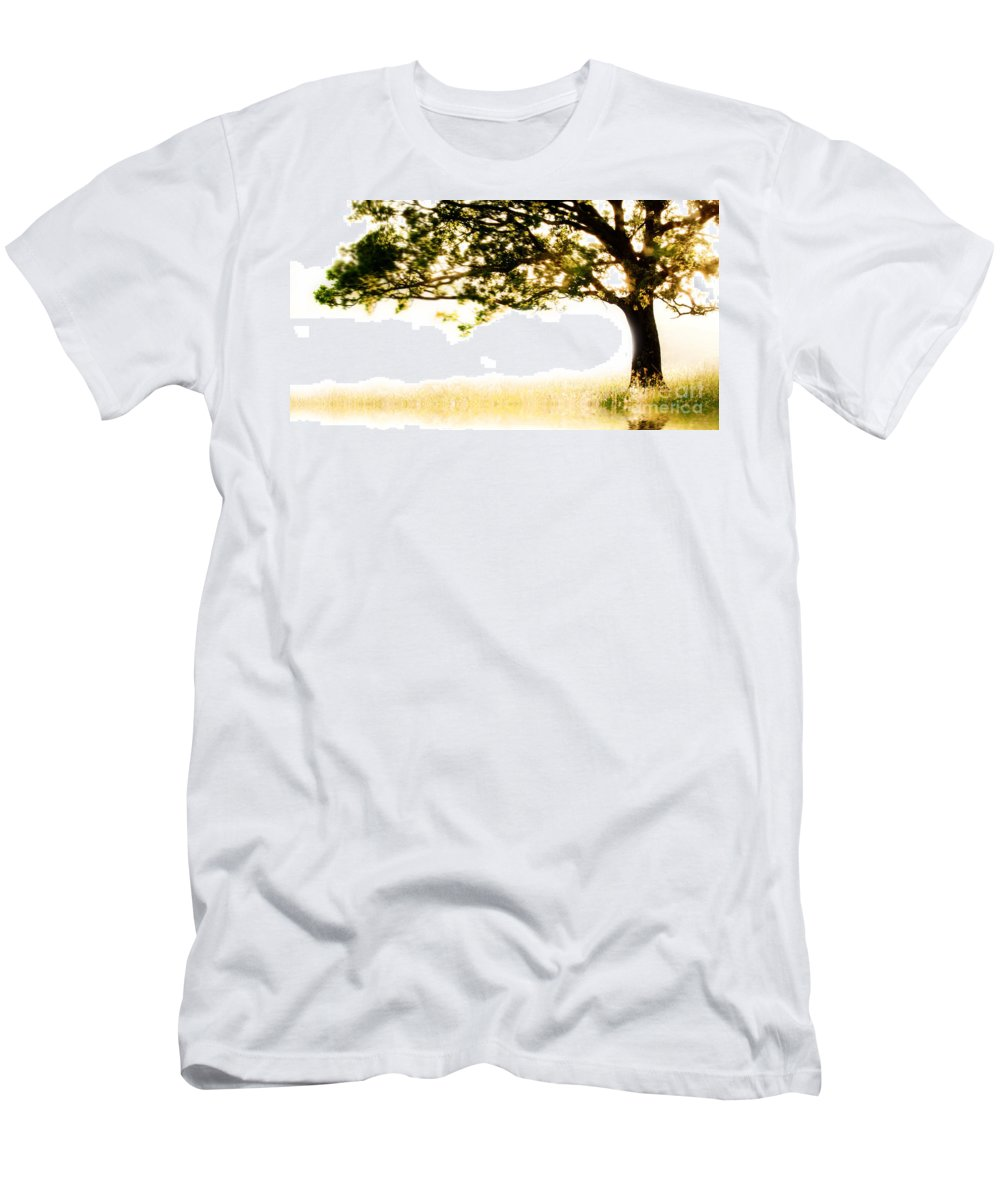 Tree Men's T-Shirt (Athletic Fit) featuring the photograph Single Tree In Motion by Simon Bratt Photography LRPS