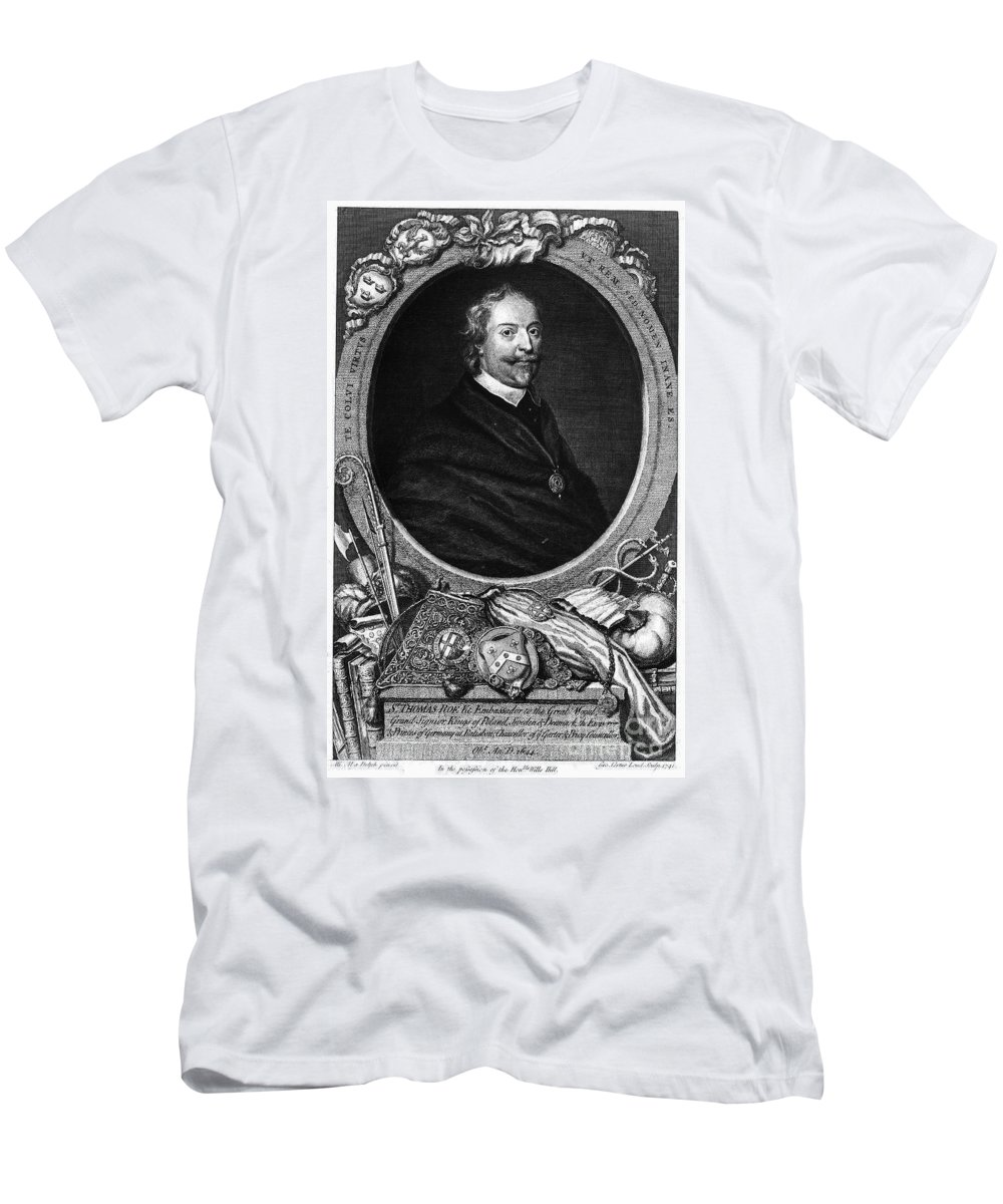 Diplomat Men's T-Shirt (Athletic Fit) featuring the photograph Sir Thomas Roe (c1581-1644) by Granger