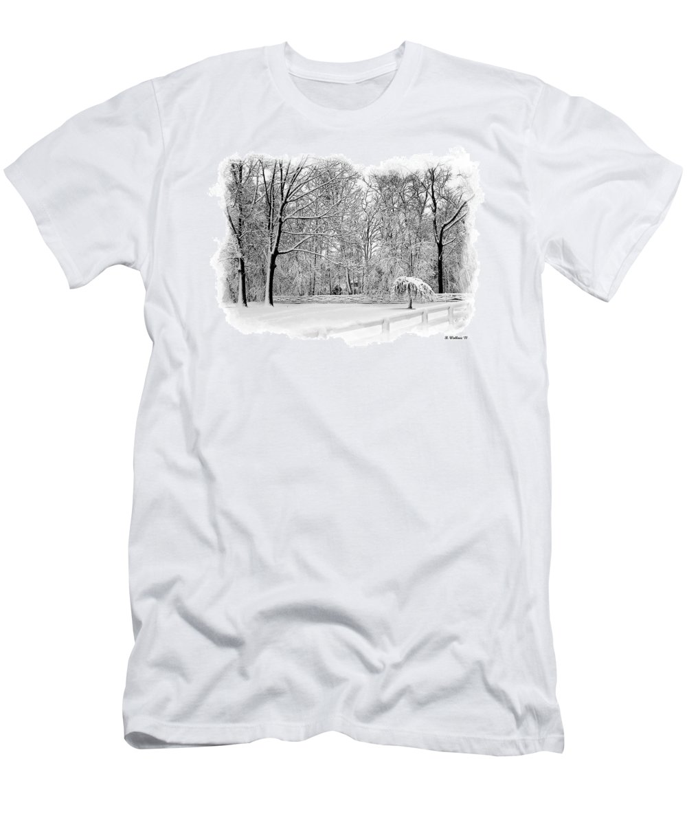 2d Men's T-Shirt (Athletic Fit) featuring the photograph Snow Covered by Brian Wallace
