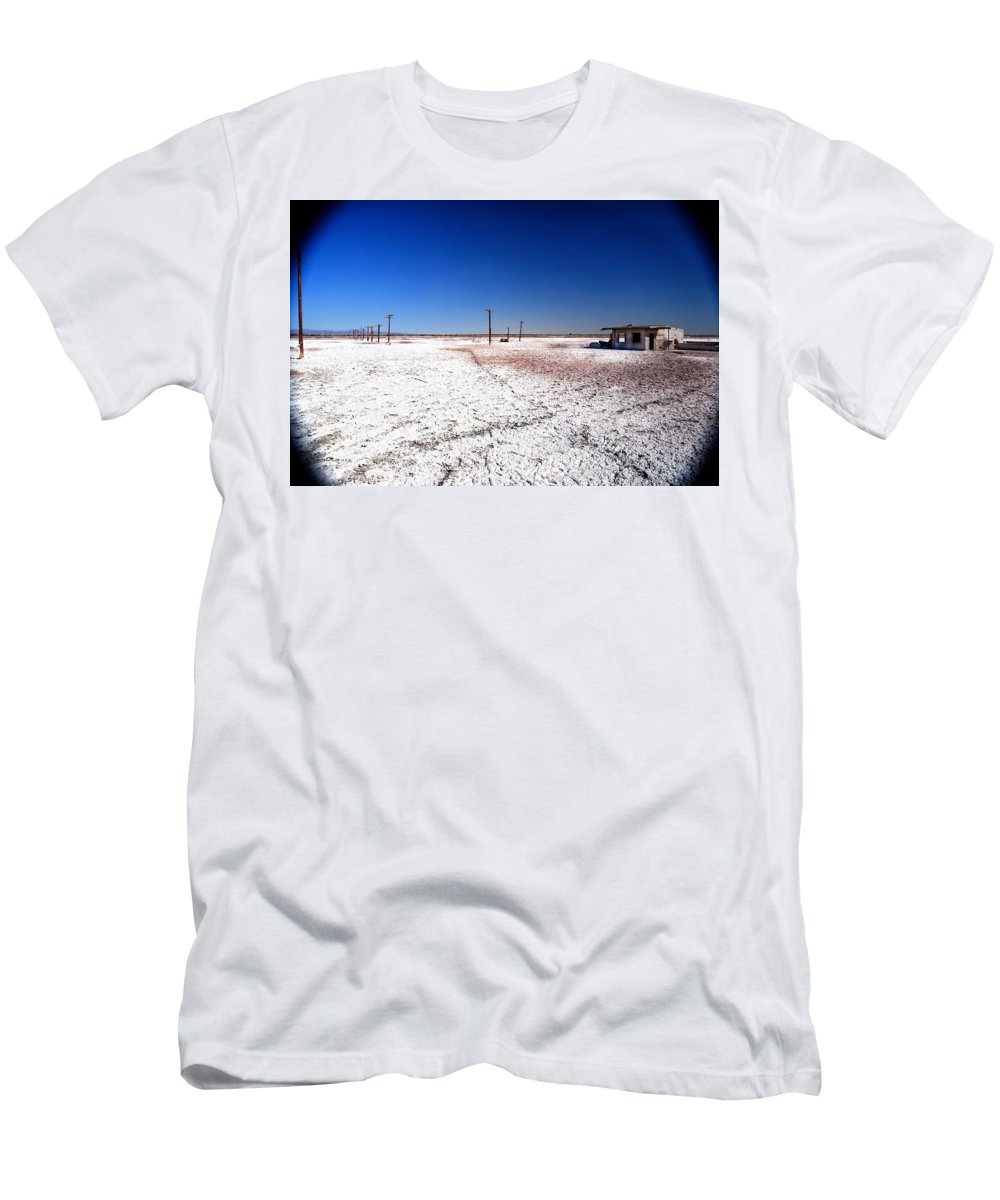 Salton Sea Men's T-Shirt (Athletic Fit) featuring the photograph Sodium And Gomorrah by Lon Casler Bixby