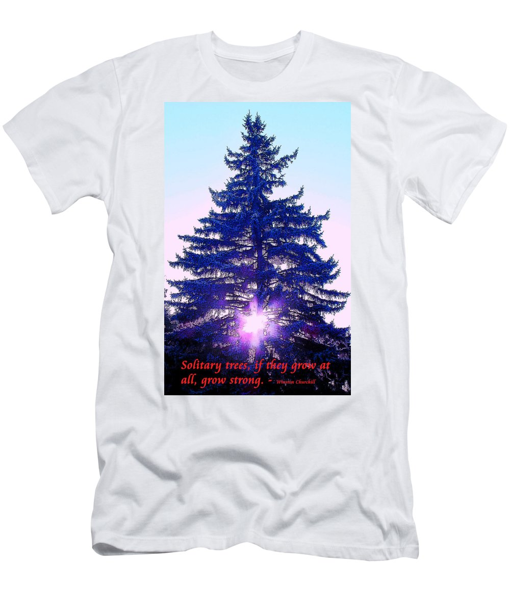 Tree. Solitary Men's T-Shirt (Athletic Fit) featuring the photograph Solitary Trees Poster by Ian MacDonald