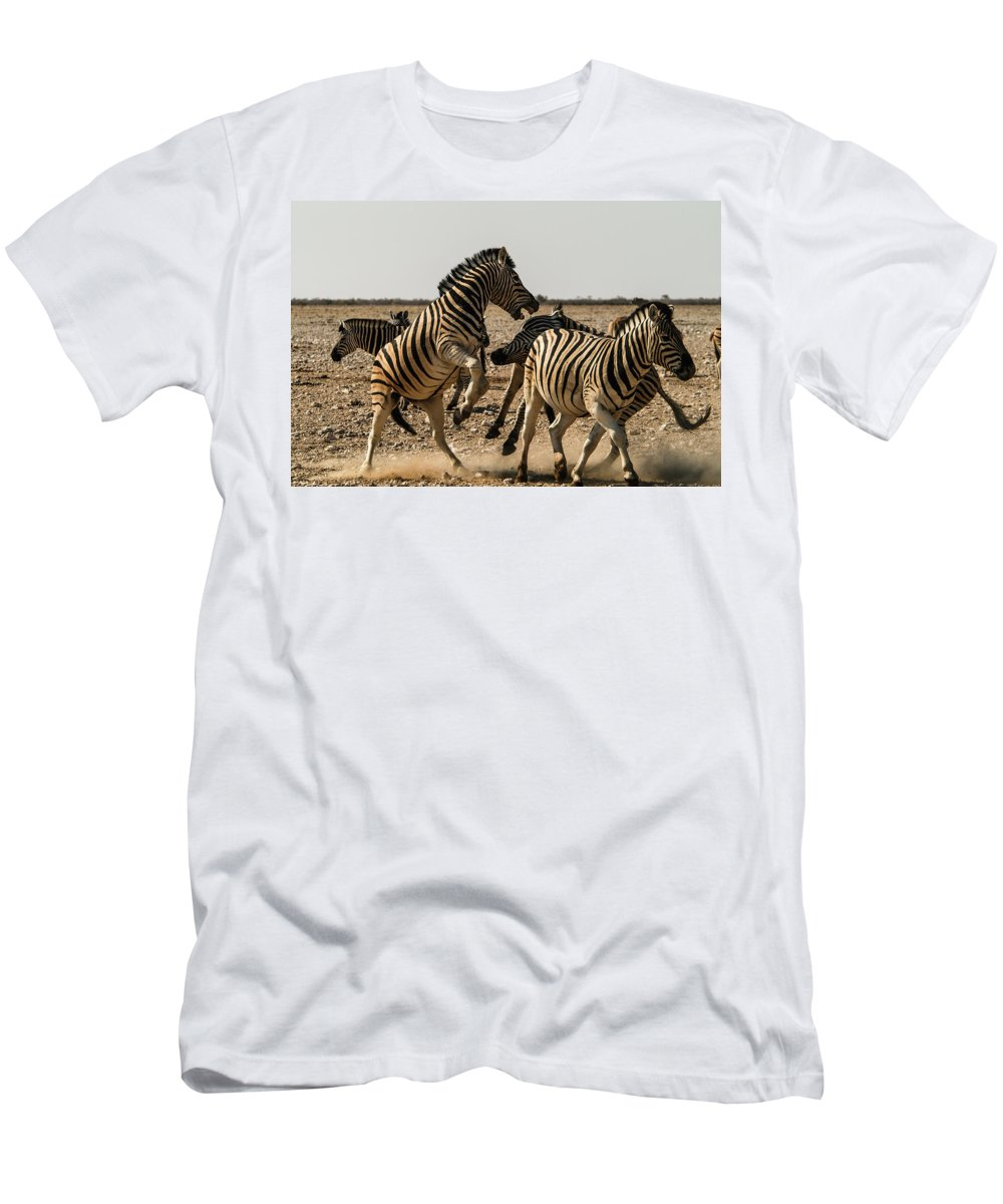 Action Men's T-Shirt (Athletic Fit) featuring the photograph Sour Stripes 3 by Alistair Lyne