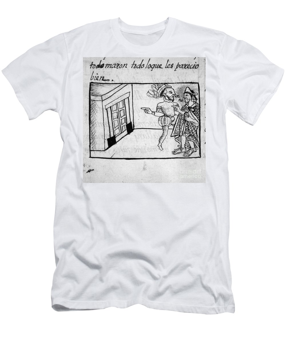 1540 Men's T-Shirt (Athletic Fit) featuring the drawing Spanish Conquest by Granger