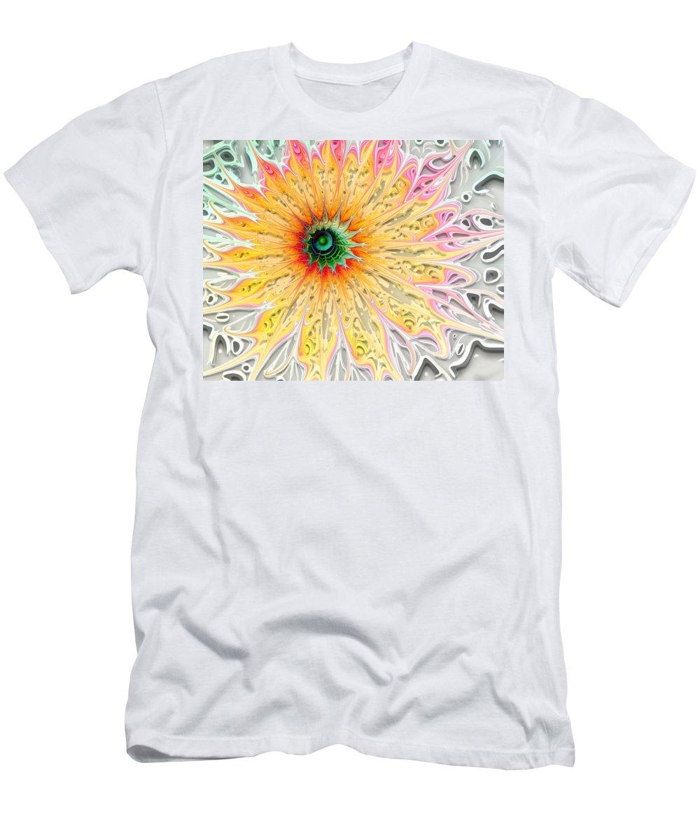 Digital Art Men's T-Shirt (Athletic Fit) featuring the digital art Starburst by Amanda Moore