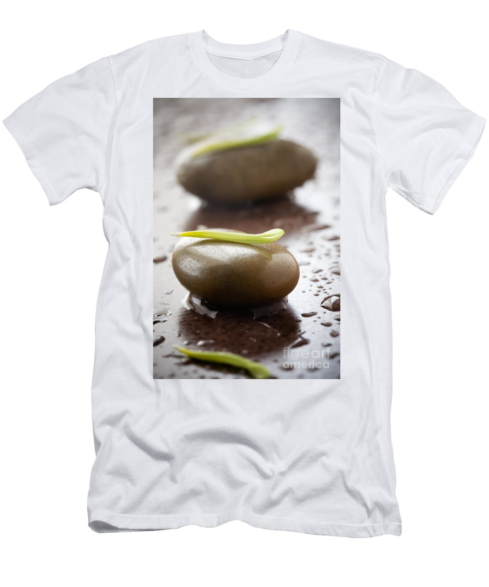Alternative Men's T-Shirt (Athletic Fit) featuring the photograph Stones With Water Drops by Kati Finell