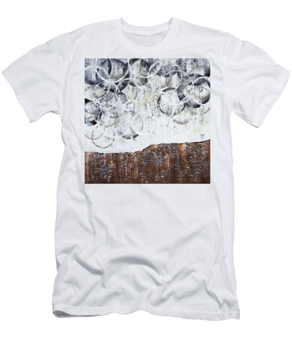 Art Men's T-Shirt (Athletic Fit) featuring the painting Stormy Clouds by Mauro Celotti