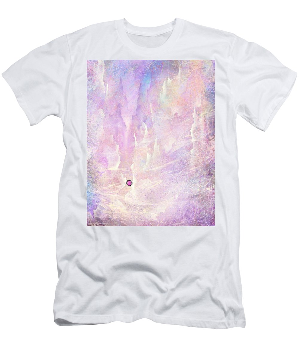Landscape T-Shirt featuring the digital art Stuck in a moment of time by William Russell Nowicki