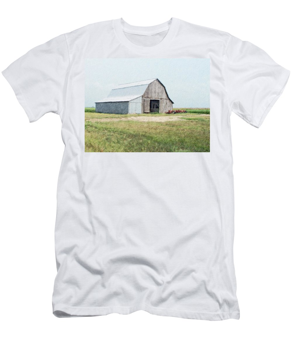 Arcitecture Men's T-Shirt (Athletic Fit) featuring the digital art Summer Barn by Debbie Portwood