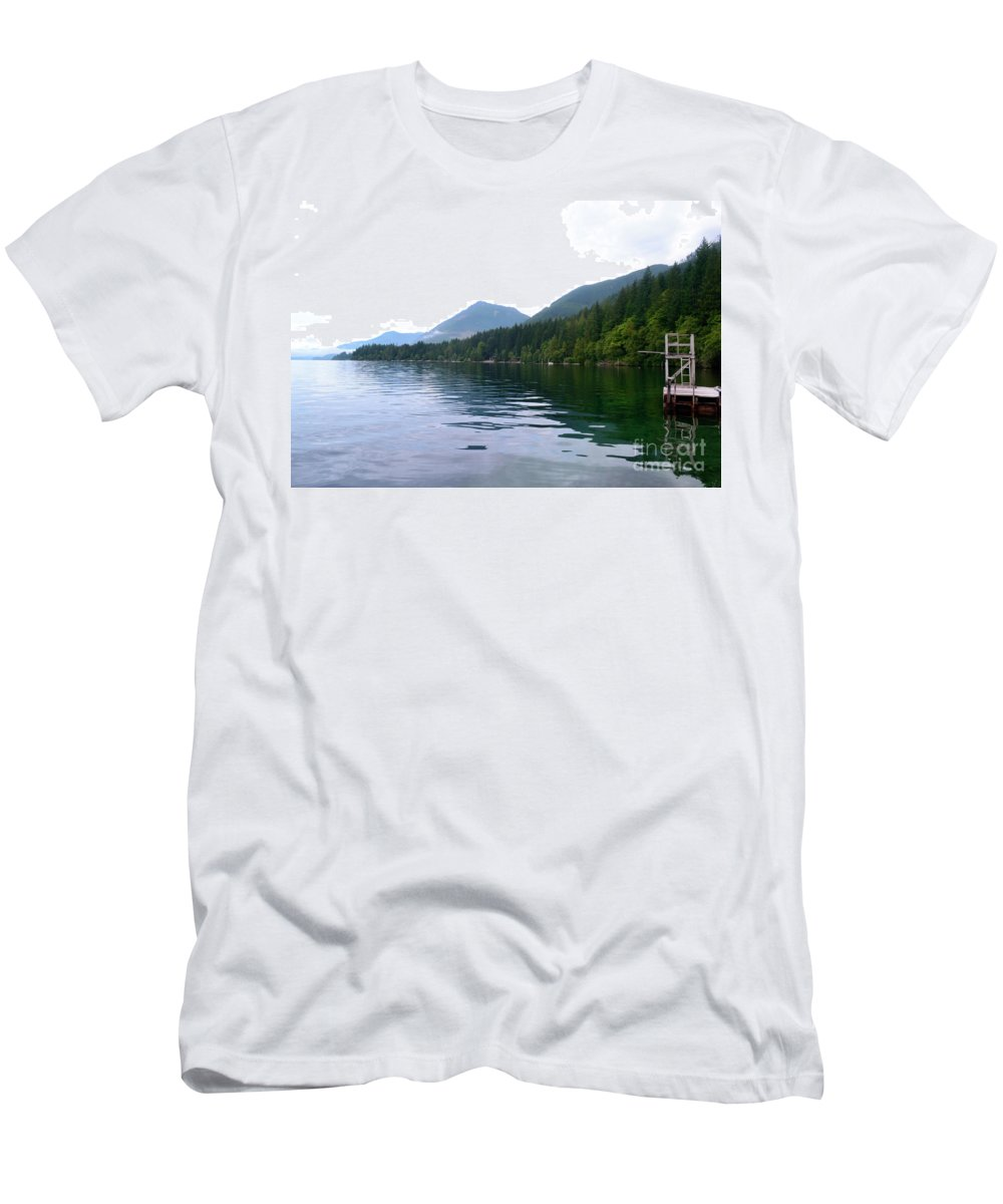 Ocean Men's T-Shirt (Athletic Fit) featuring the photograph Sunrise2 by Traci Cottingham