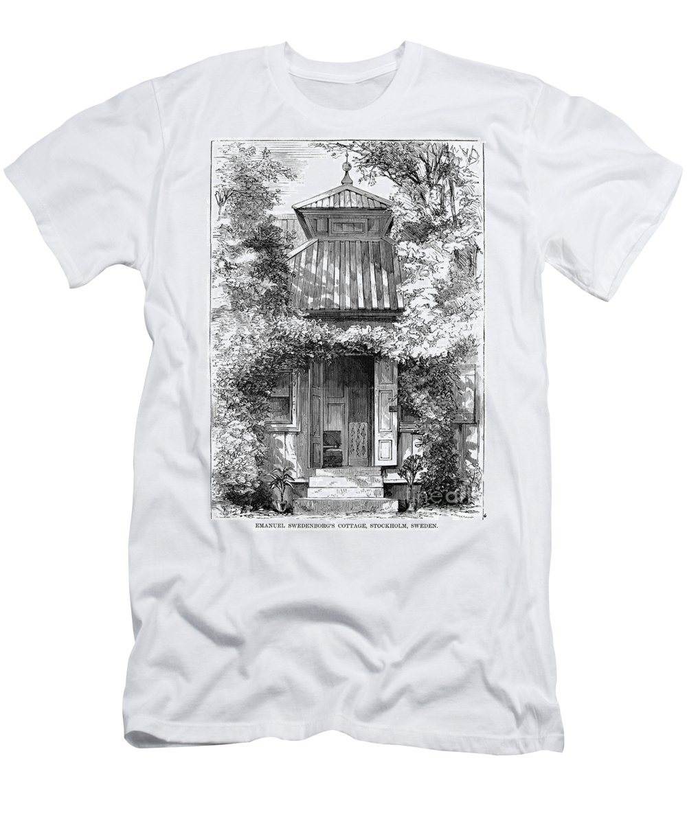 18th Century Men's T-Shirt (Athletic Fit) featuring the photograph Swedenborgs Cottage by Granger
