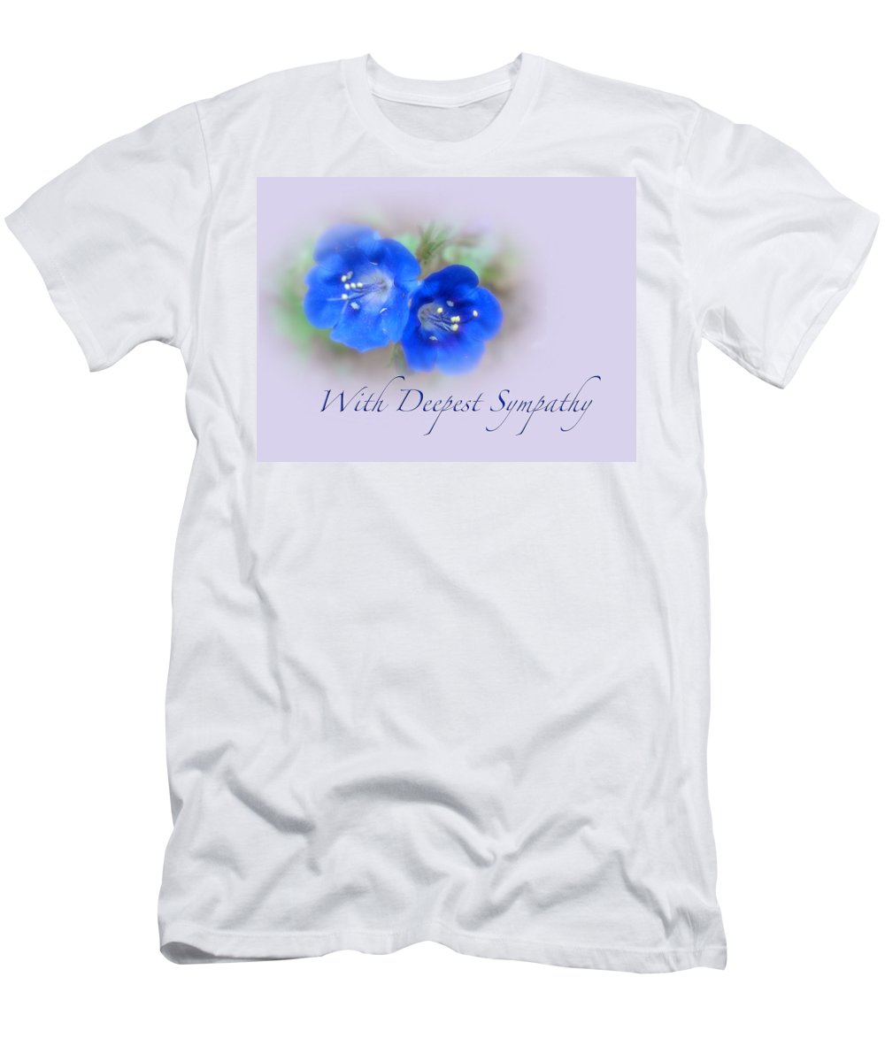 Sympathy Men's T-Shirt (Athletic Fit) featuring the photograph Sympathy Card - Blue Wildflower by Mother Nature